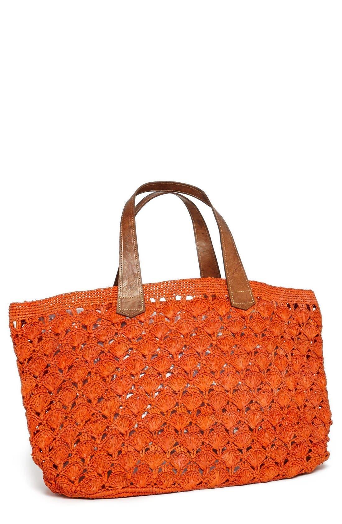 Main Image - Mar y Sol 'Valencia' Crocheted Raffia Tote