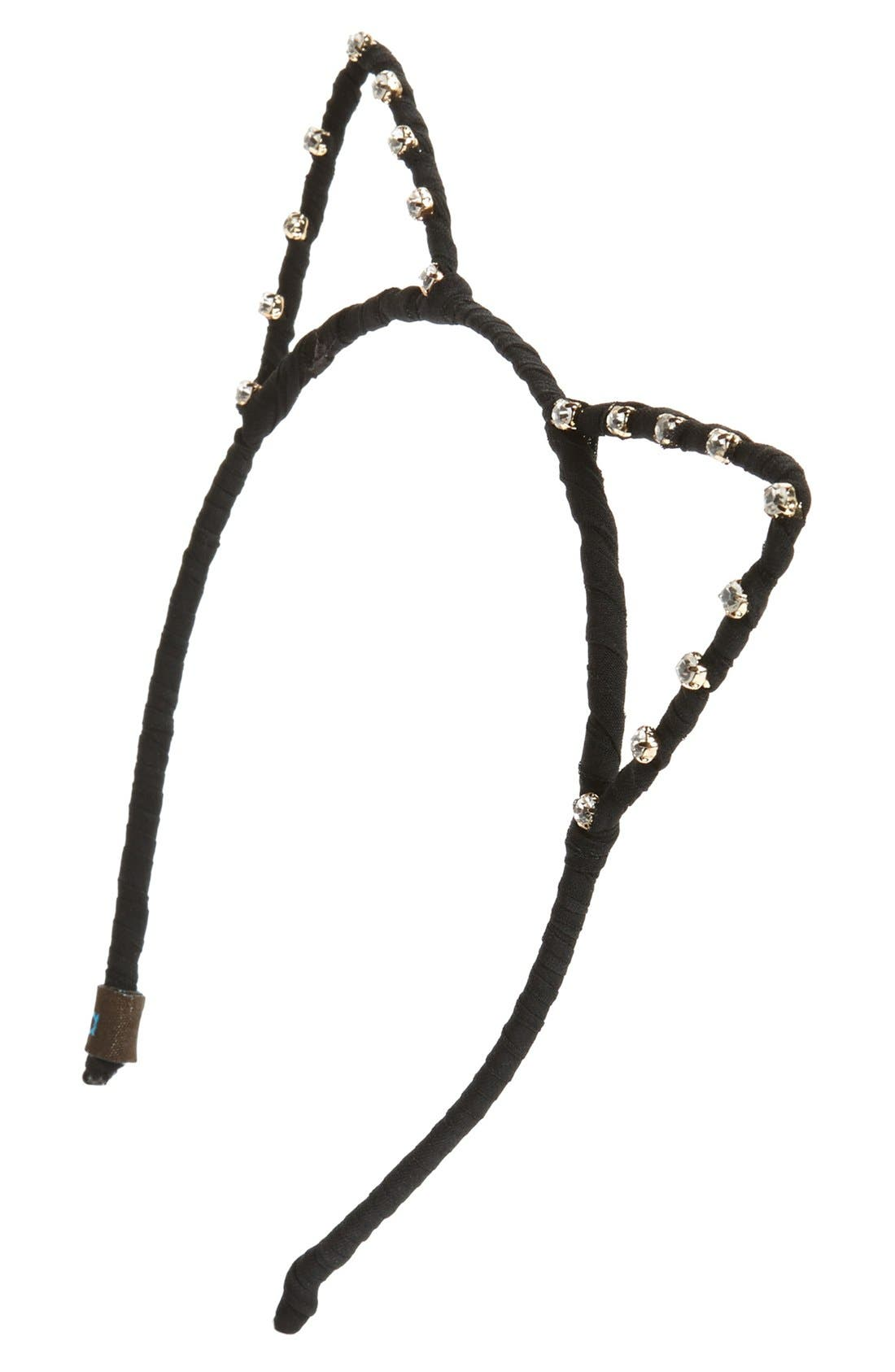 Main Image - Tasha 'Meow Me Now' Crystal Cat Ears Headband