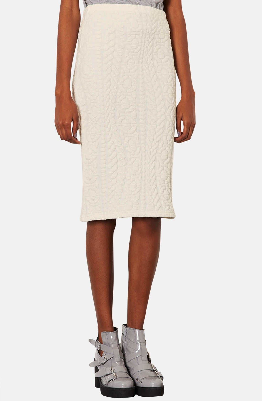 Alternate Image 1 Selected - Topshop Jacquard Tube Skirt