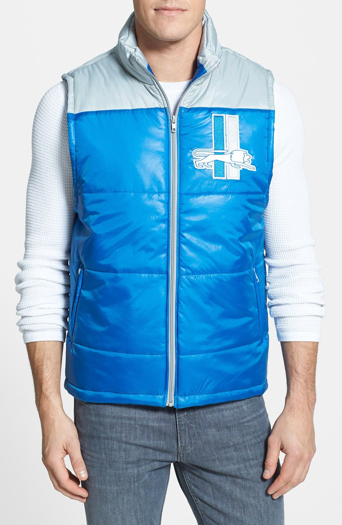 Main Image - Mitchell & Ness 'Winning Team - Detroit Lions' Quilted Vest