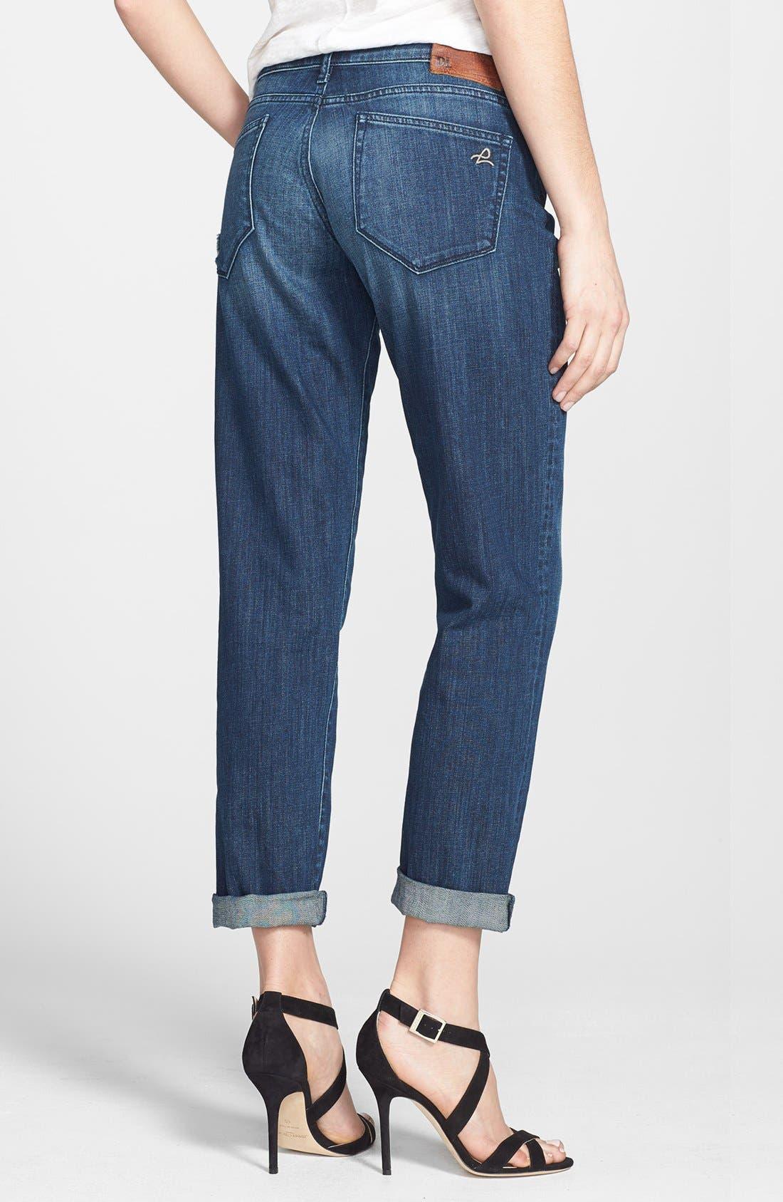 Alternate Image 2  - DL1961 'Riley' Boyfriend Jeans (Nassau)
