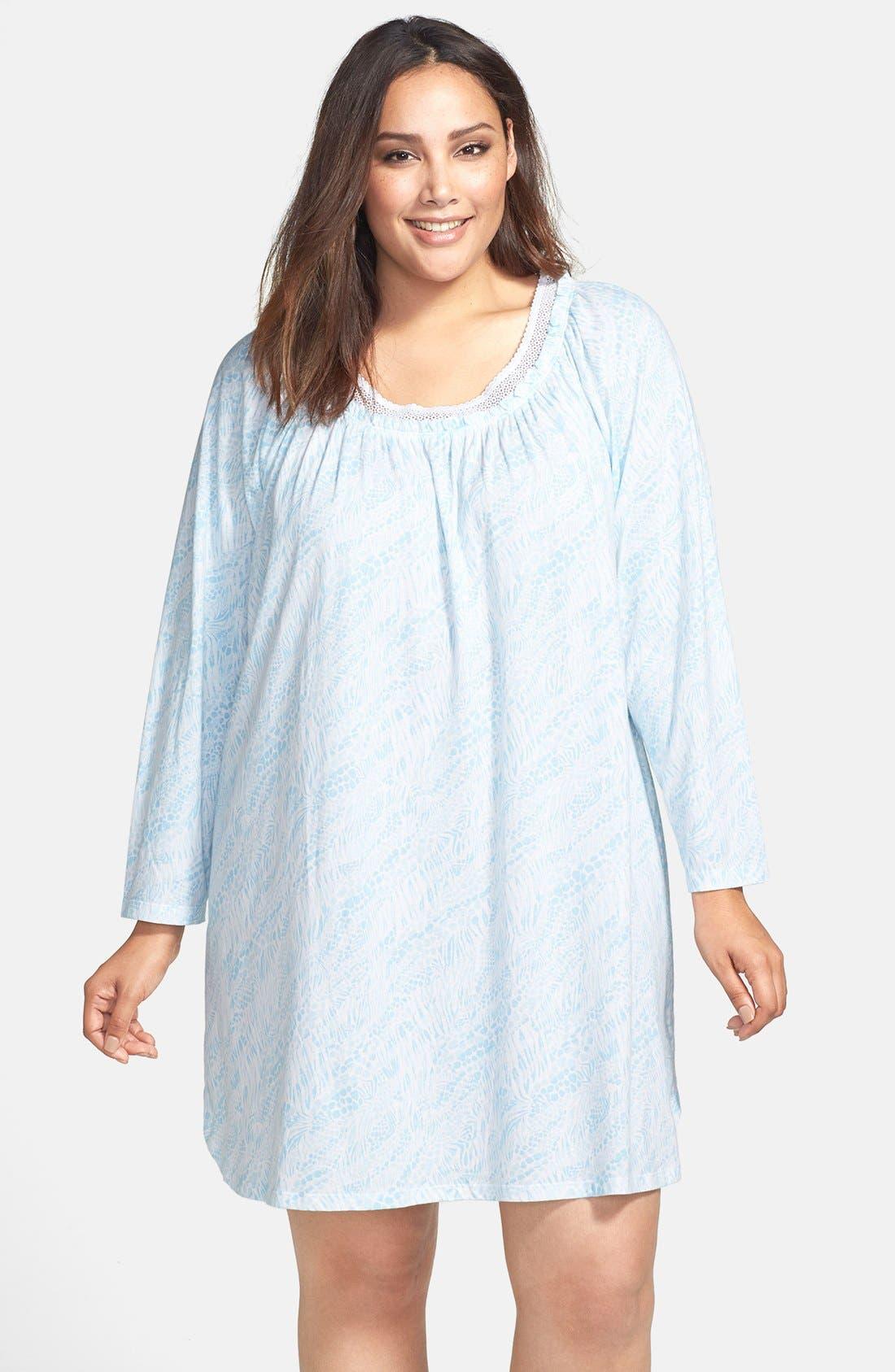 Main Image - Carole Hochman Designs 'Wistful Rosebud' Sleep Shirt (Plus Size)