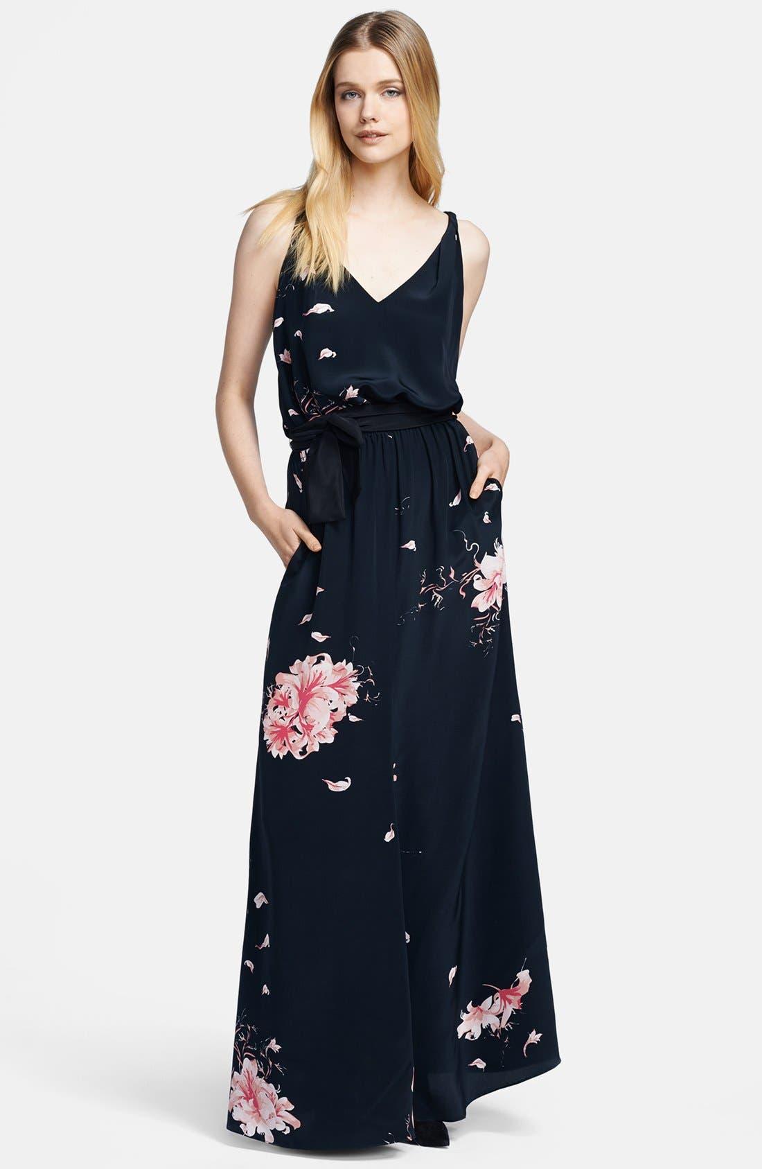 Alternate Image 1 Selected - Jay Godfrey Print Satin Maxi Dress