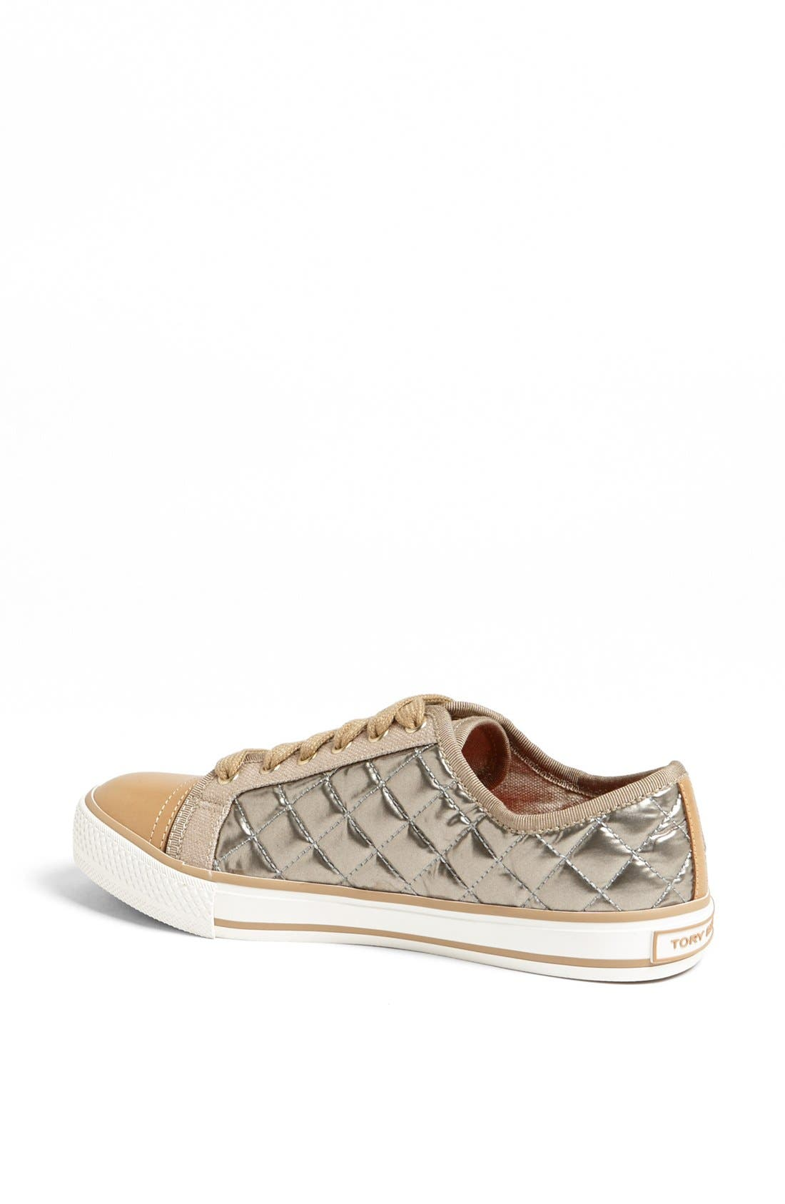 Alternate Image 2  - Tory Burch 'Caspe' Quilted Metallic Leather Sneaker