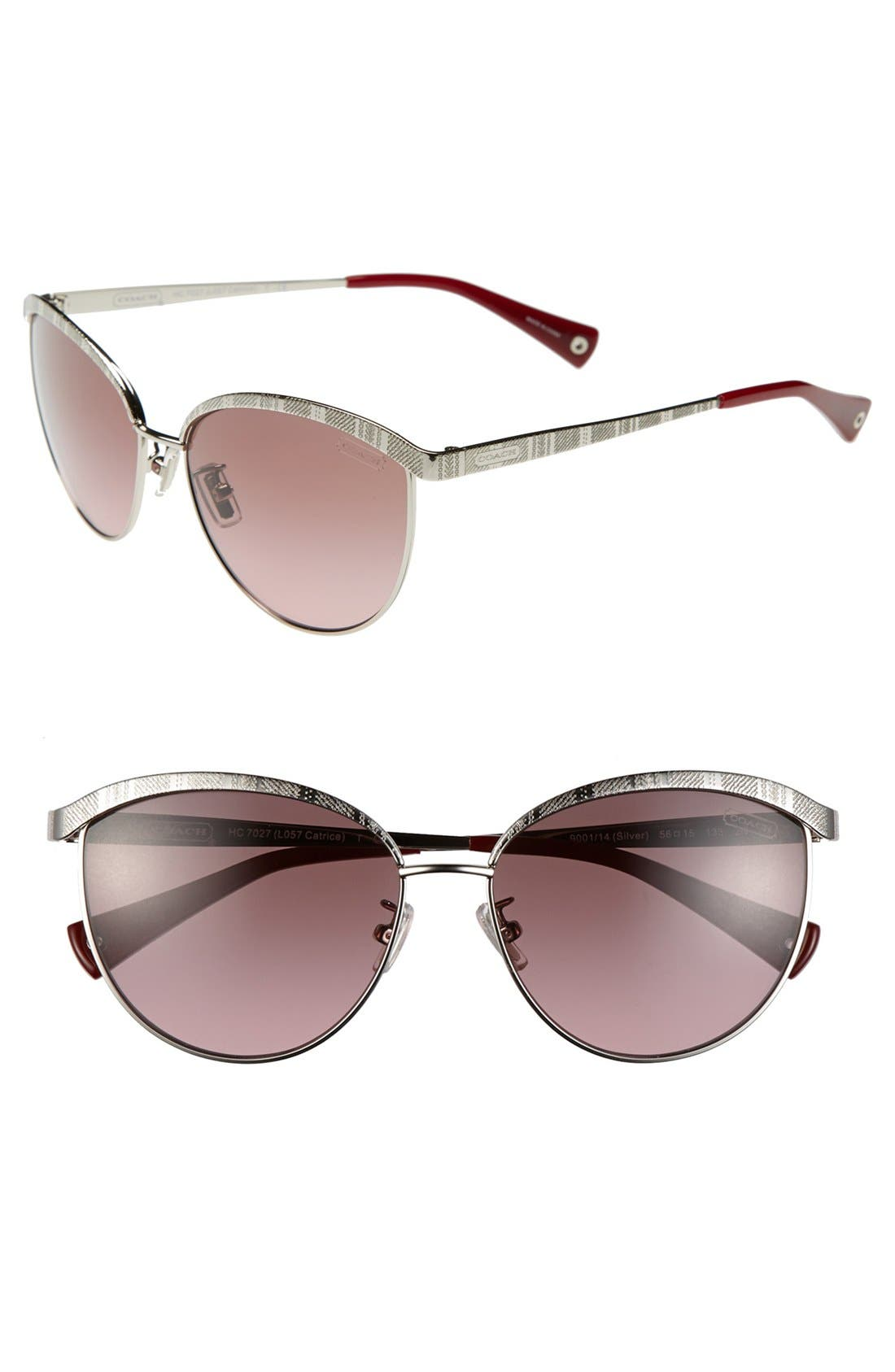 Main Image - COACH 'Pilot' 56mm Sunglasses