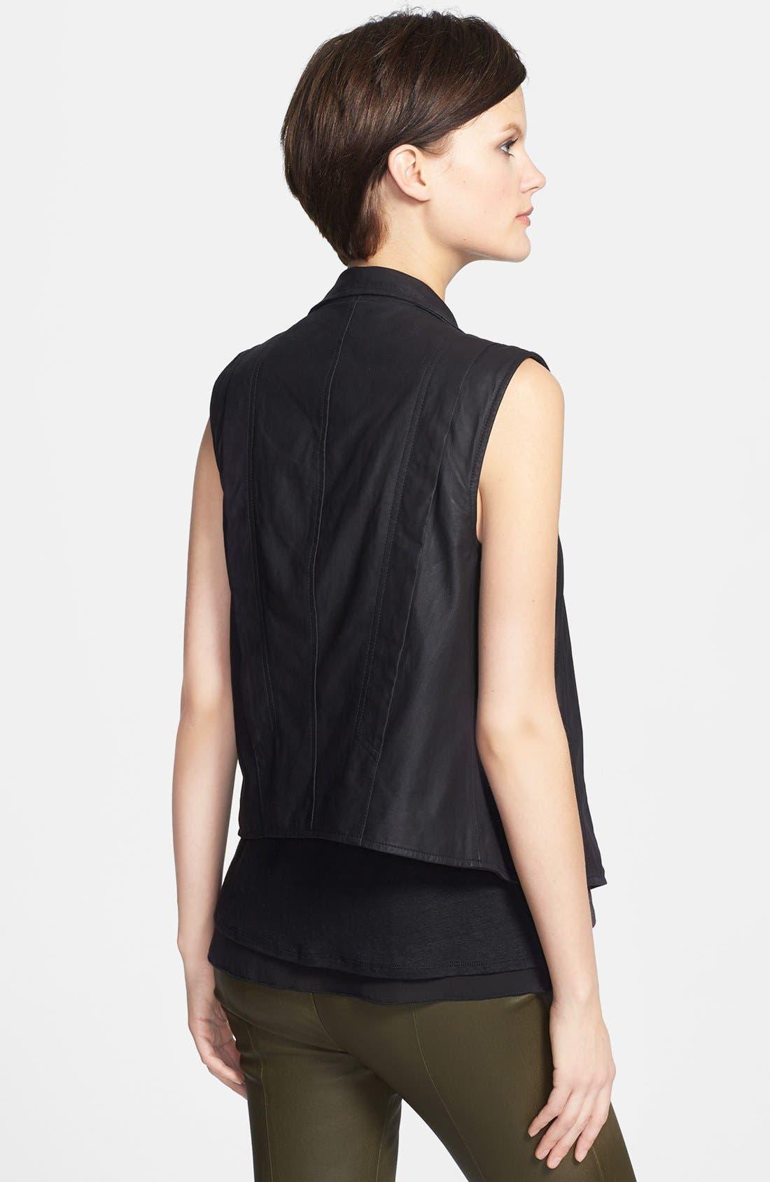 Alternate Image 2  - Vince 'Paper' Leather Vest