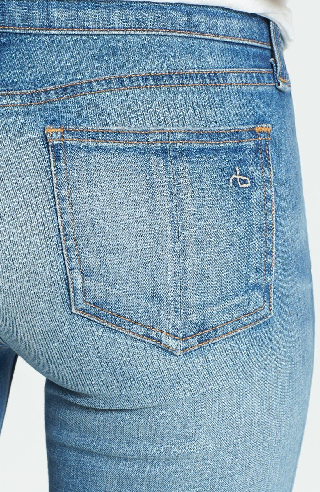 Alternate Image 3  - rag & bone/JEAN Destroyed Skinny Ankle Jeans (Shredded)