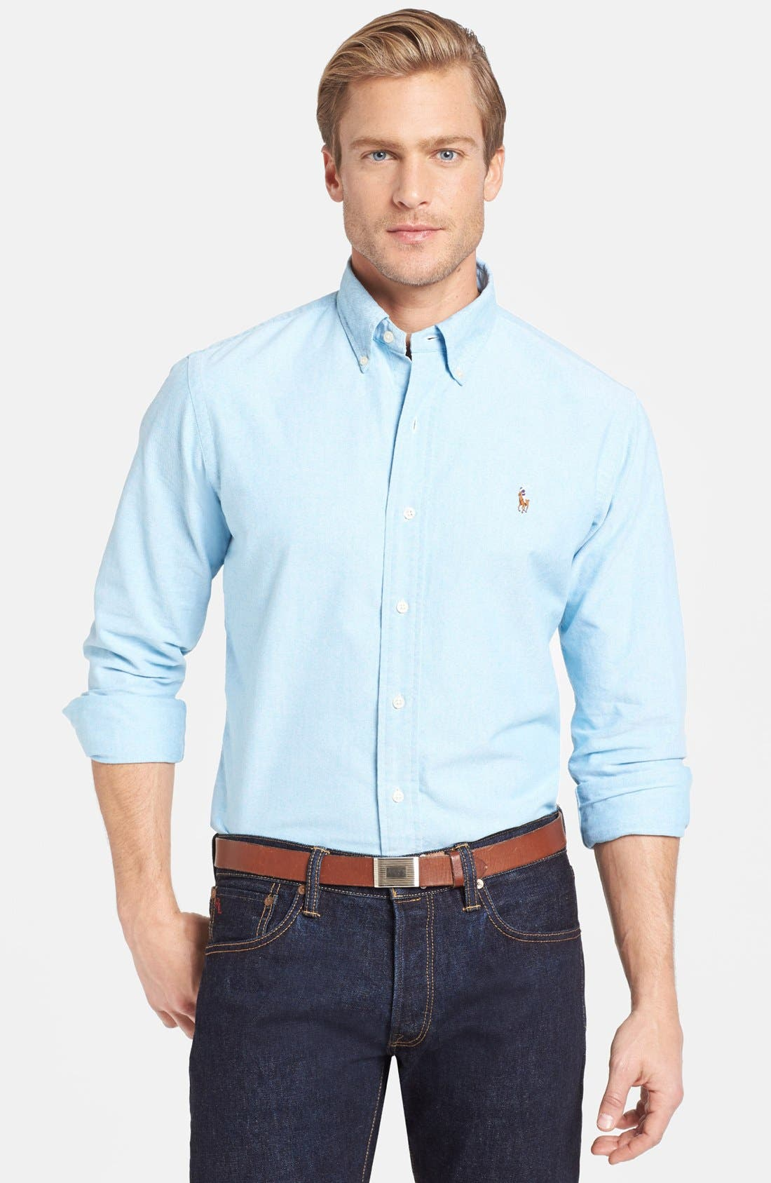 Alternate Image 1 Selected - Polo Ralph Lauren Slim Fit Oxford Sport Shirt