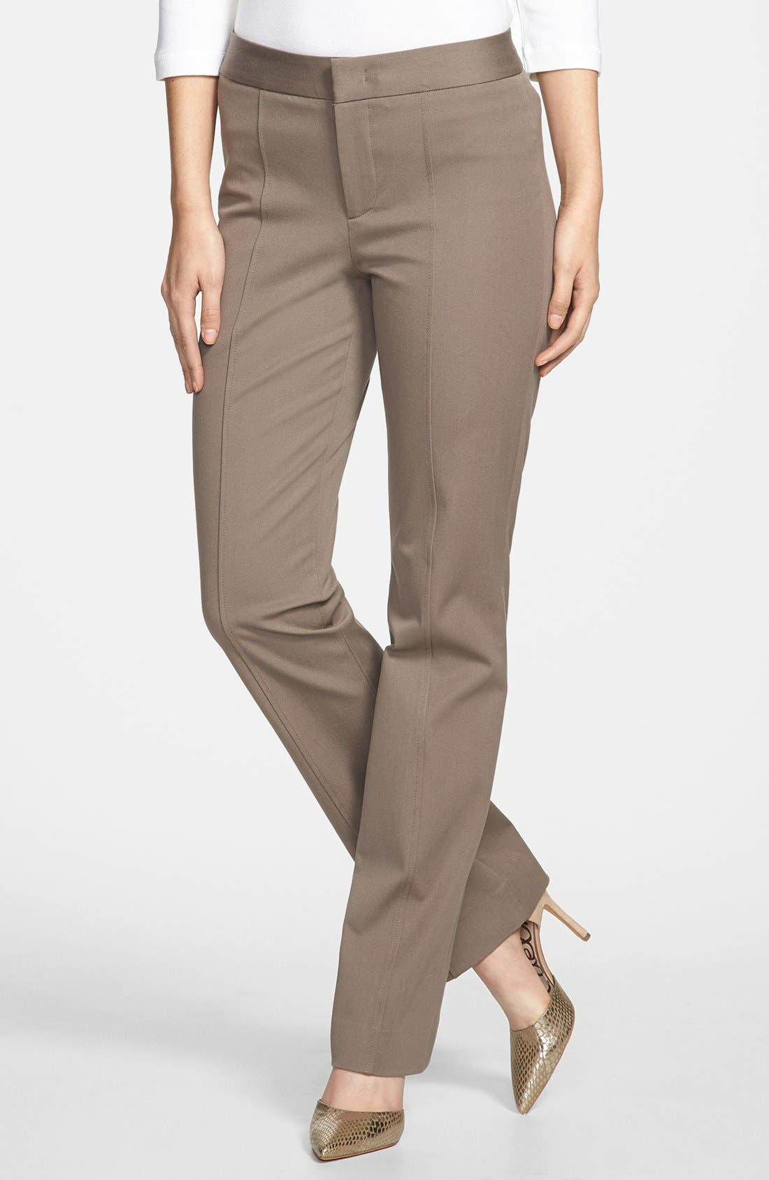 Alternate Image 1 Selected - NYDJ Straight Leg Stretch Twill Pants