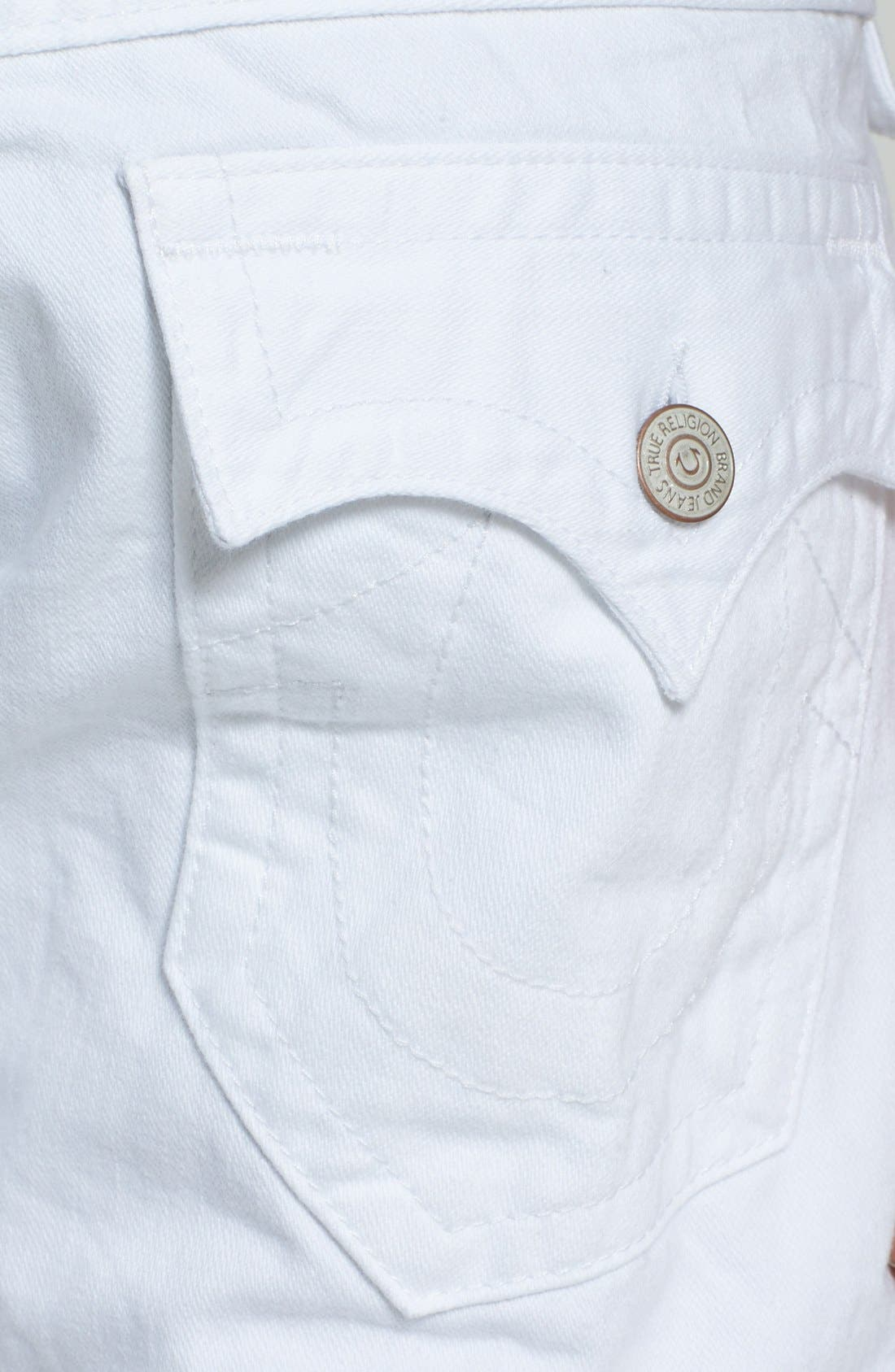 Alternate Image 4  - True Religion Brand Jeans 'Ricky' Relaxed Fit Jeans (Optic White)
