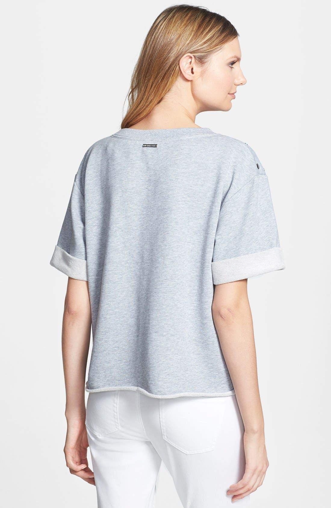 Alternate Image 2  - MICHAEL Michael Kors Studded Crewneck Sweatshirt