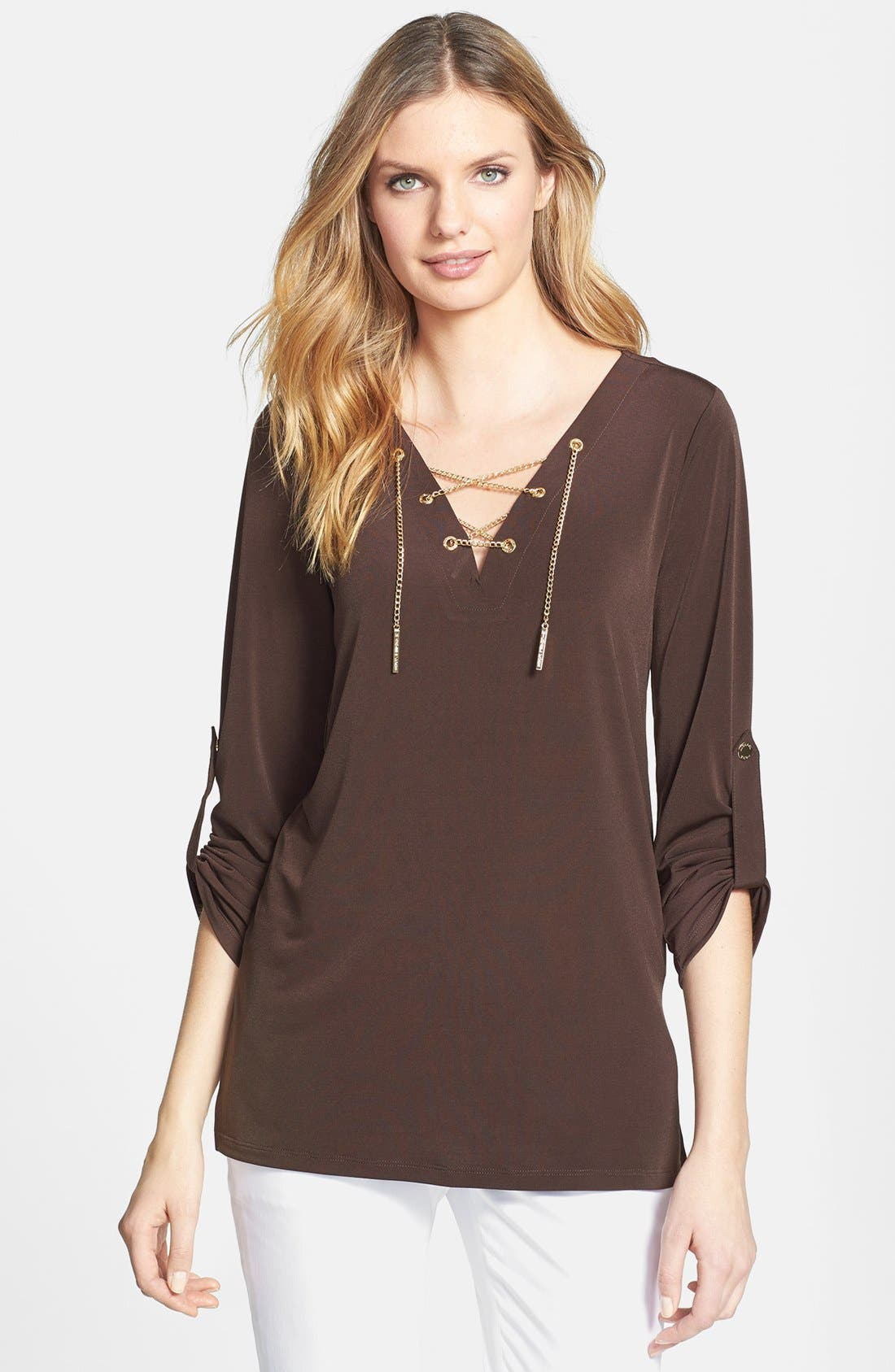 Alternate Image 1 Selected - MICHAEL Michael Kors Lace-Up Tunic