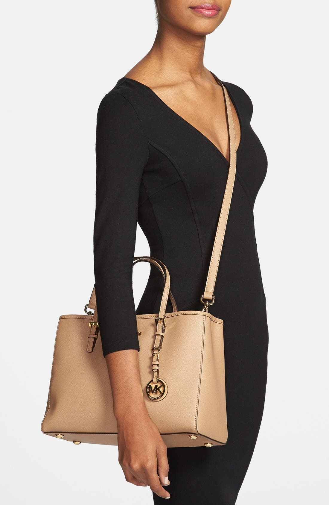 Alternate Image 2  - MICHAEL Michael Kors 'Jet Set' East/West Saffiano Leather Tote