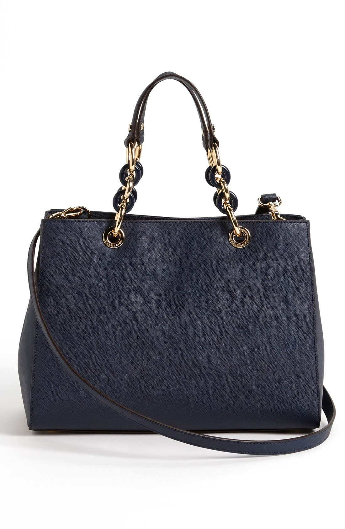 Alternate Image 3  - MICHAEL Michael Kors 'Cynthia' Saffiano Leather Satchel