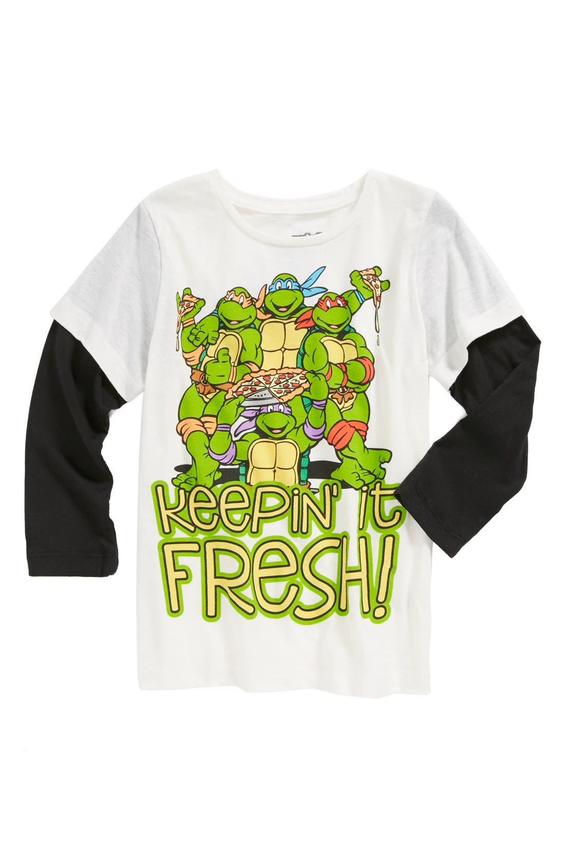 Alternate Image 1 Selected - Mighty Fine 'TMNT Keepin' It Fresh' T-Shirt (Little Boys)