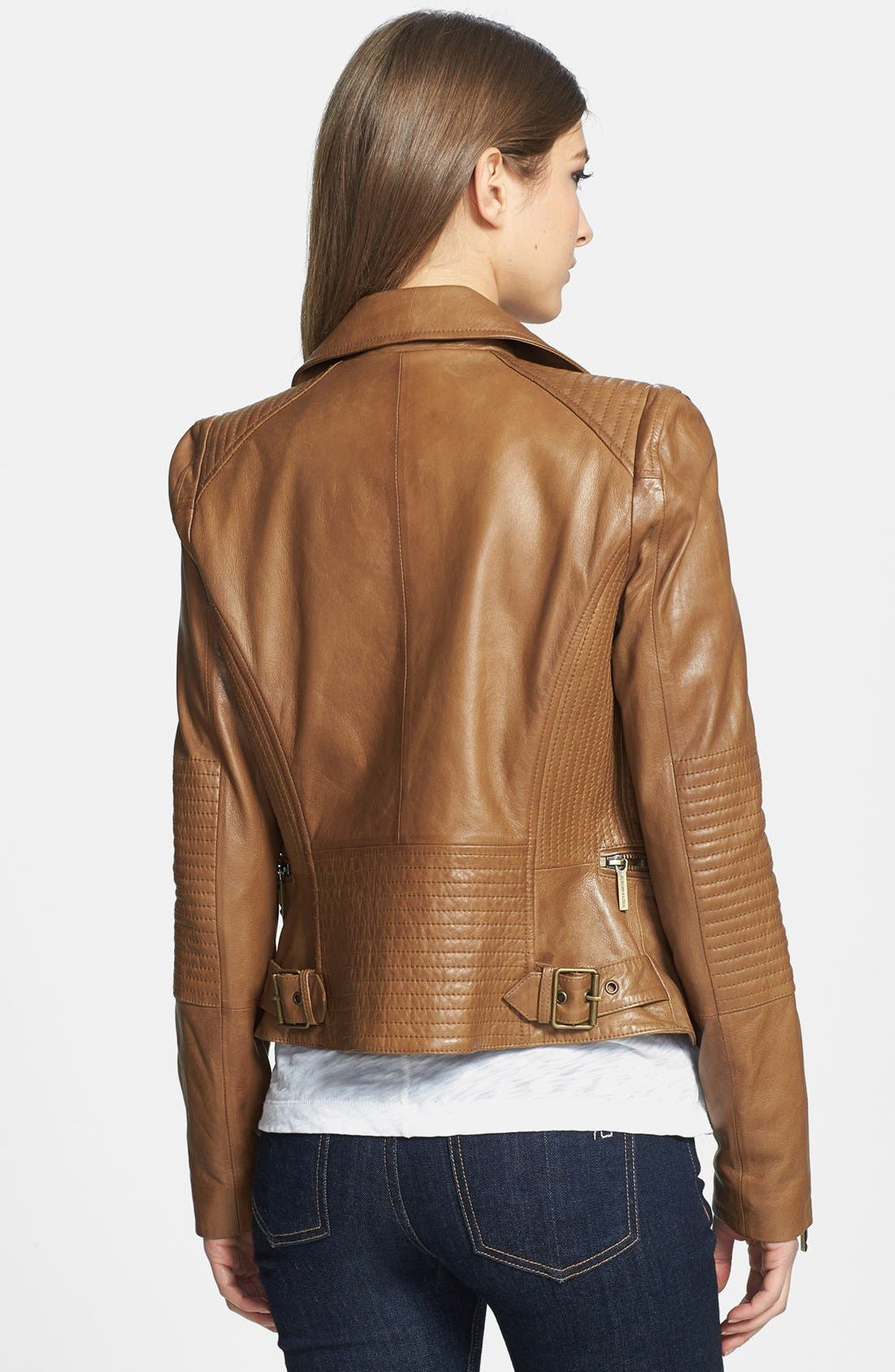 Alternate Image 2  - BCBGMAXAZRIA 'Tara' Leather Moto Jacket