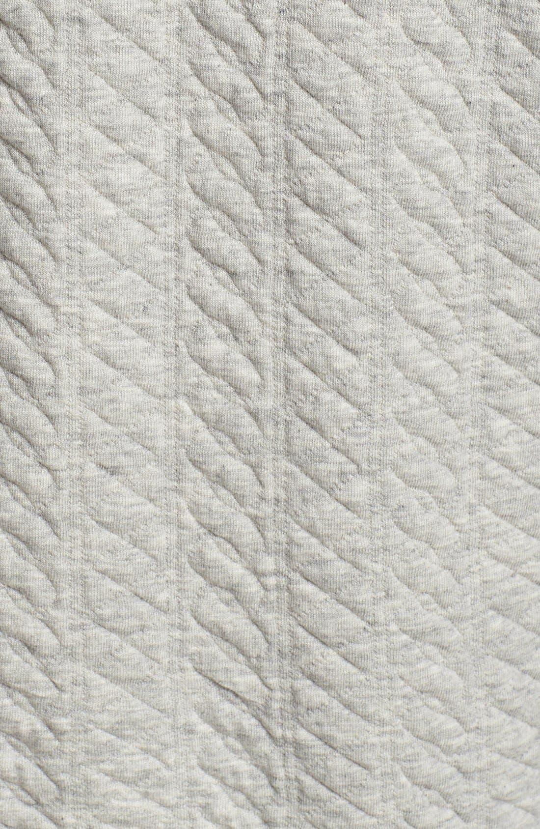 Alternate Image 3  - Topman Mini Cable Jersey Zip Sweatshirt