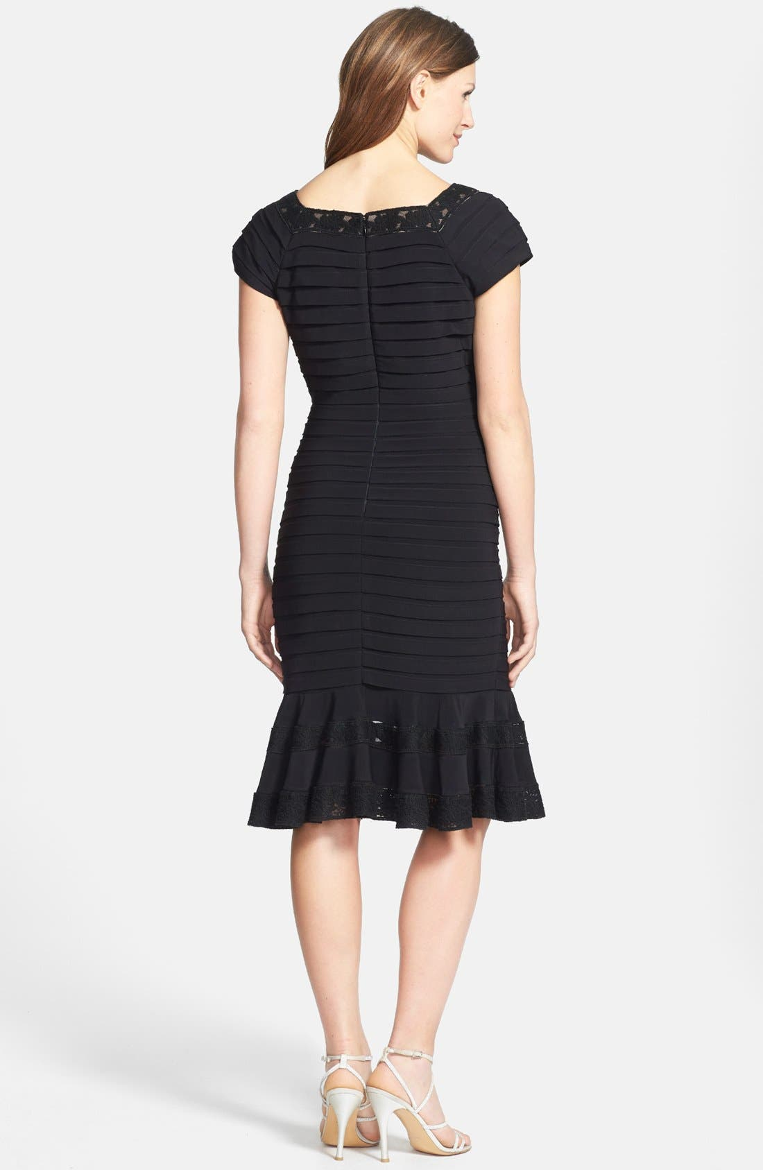 Alternate Image 2  - Adrianna Papell Short Sleeve Tulip Hem Dress