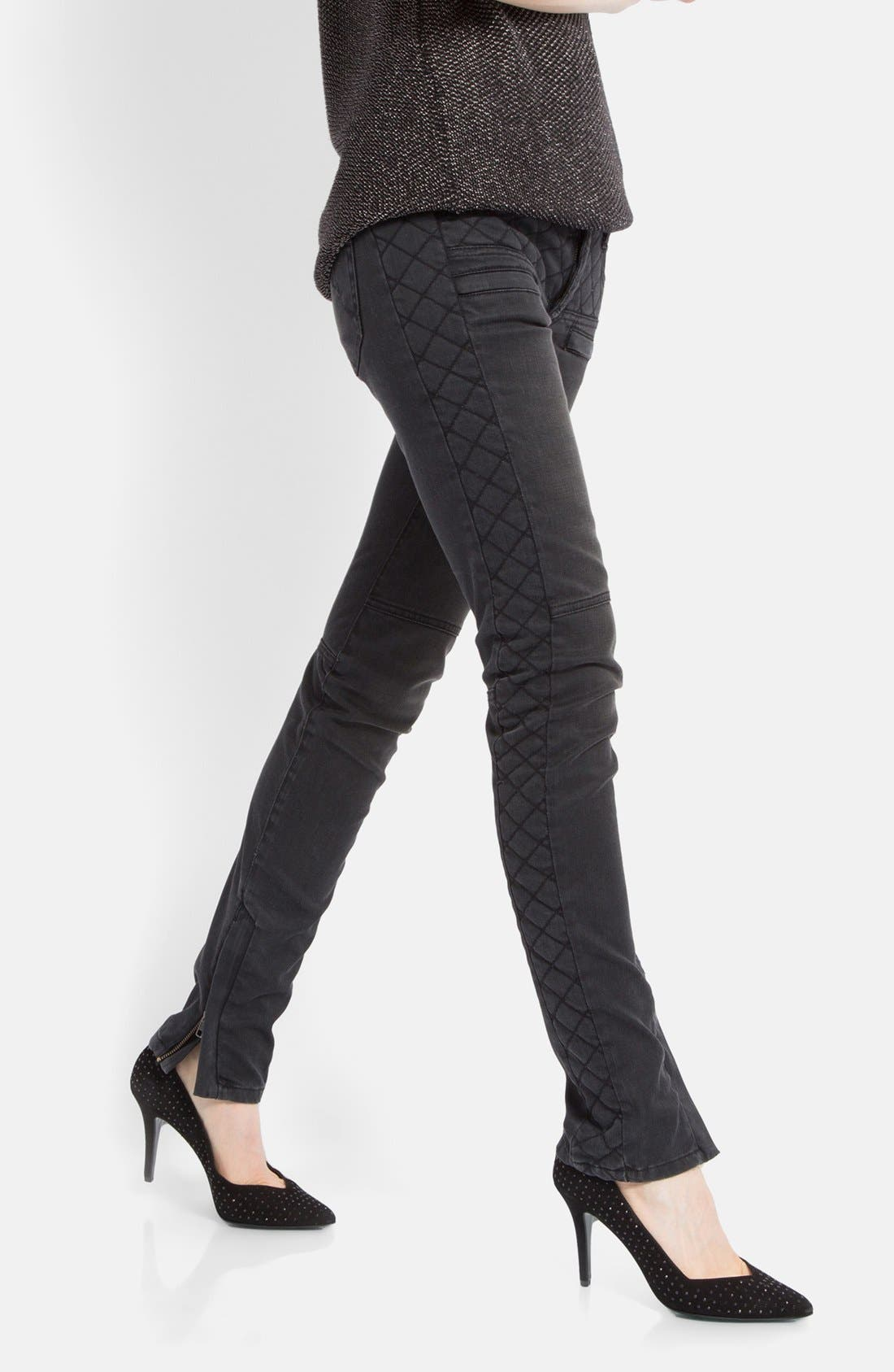 Alternate Image 1 Selected - maje 'Downtown' Colored Stretch Skinny Jeans