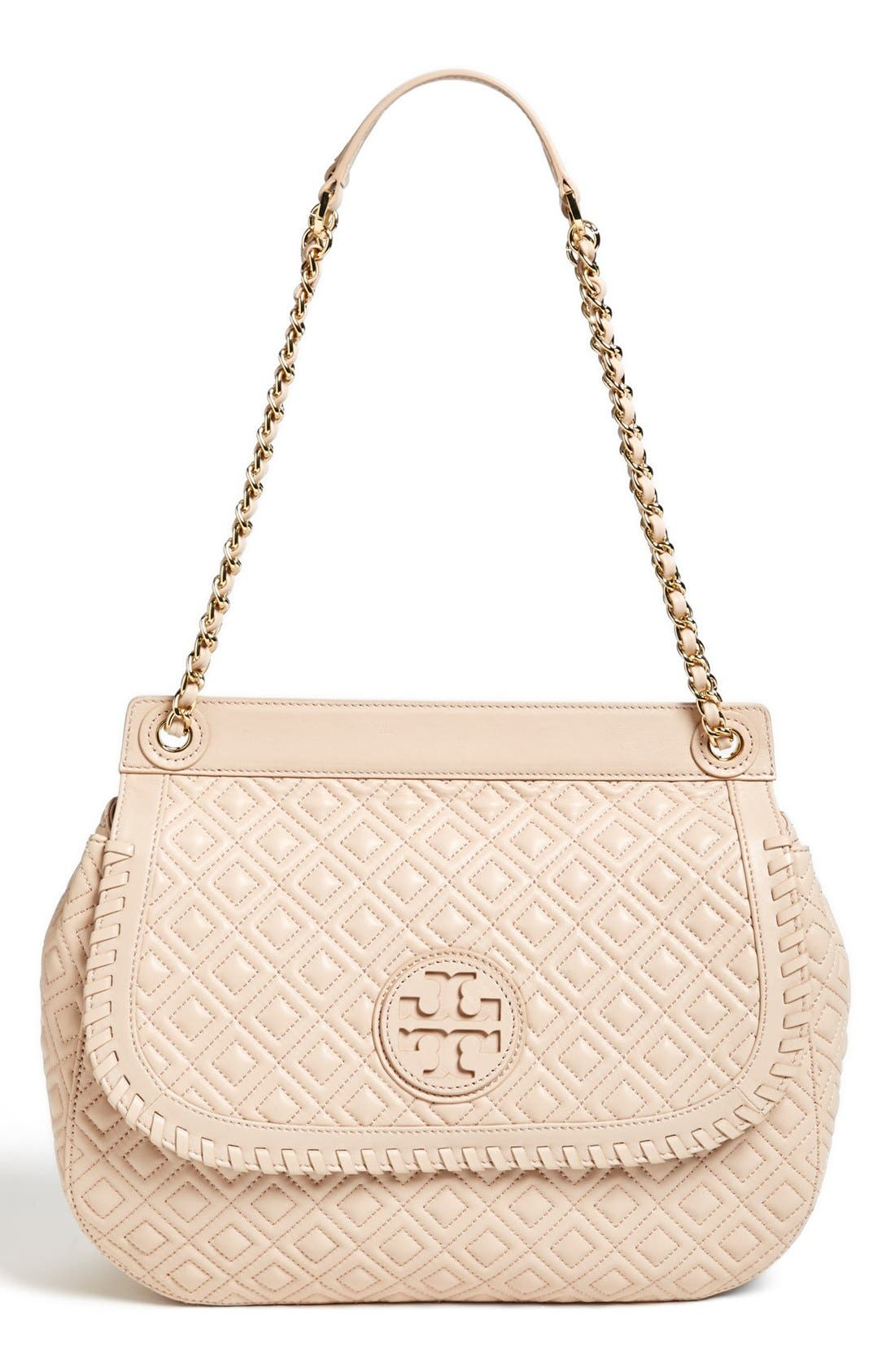 Alternate Image 1 Selected - Tory Burch 'Marion' Quilted Convertible Shoulder Bag
