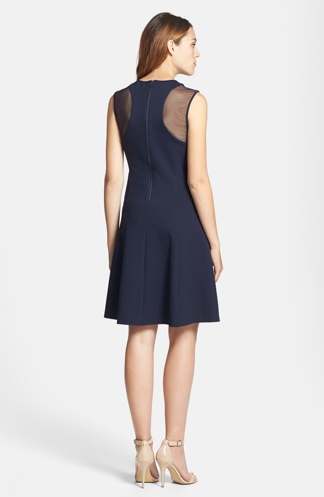 Alternate Image 2  - Vince Camuto Sheer Inset Ponte Dress
