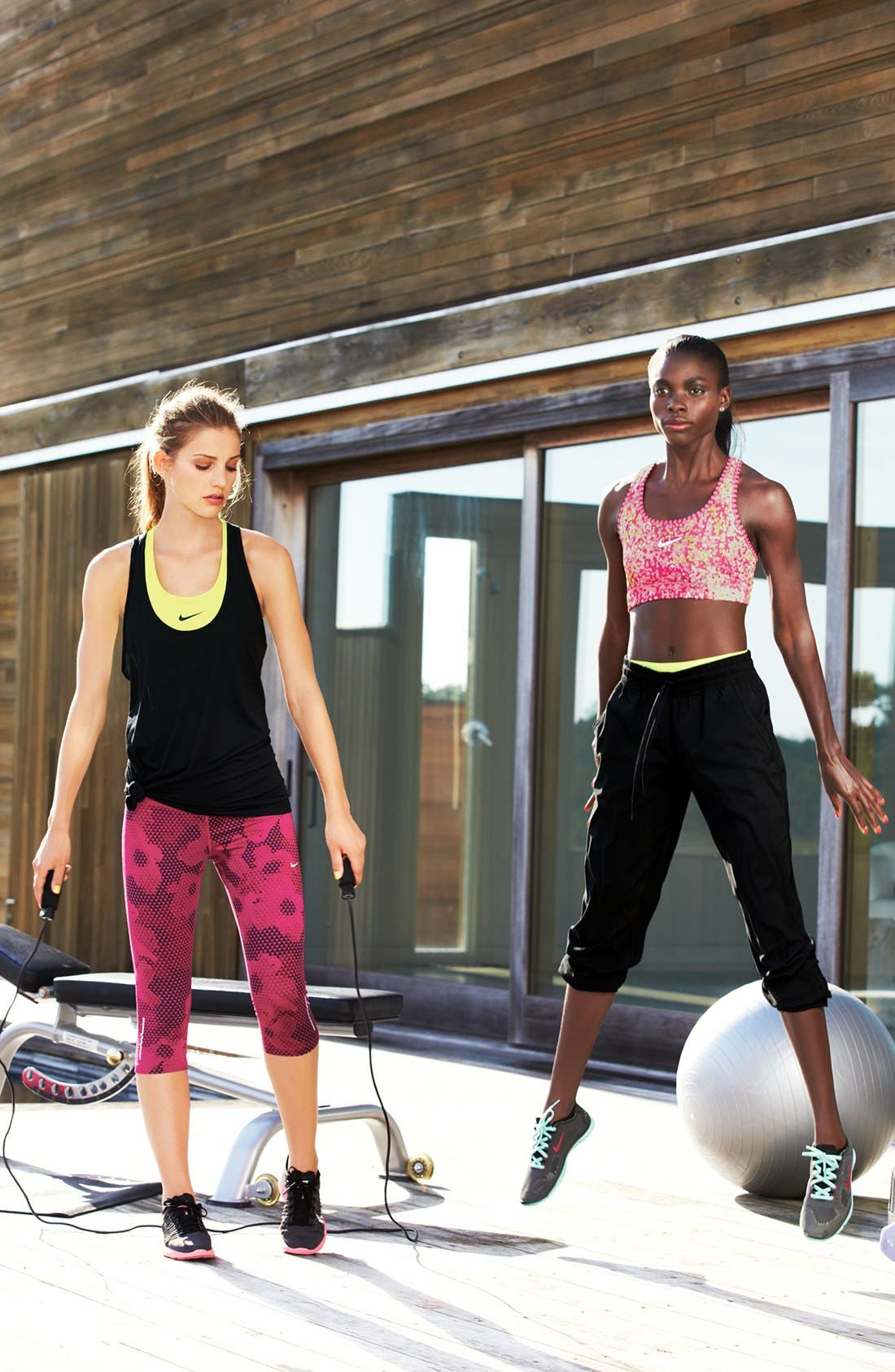Alternate Image 1 Selected - Nike Sports Bra & Pants