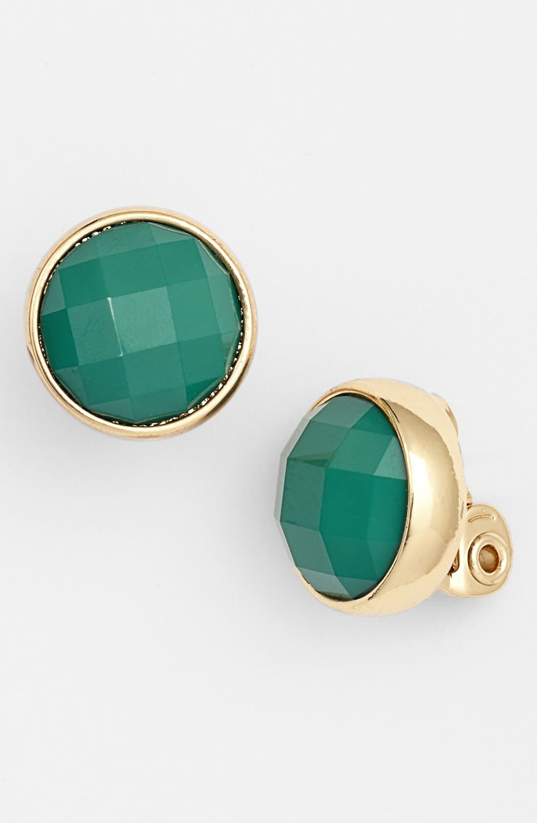 Alternate Image 1 Selected - Anne Klein Stone Clip Earrings