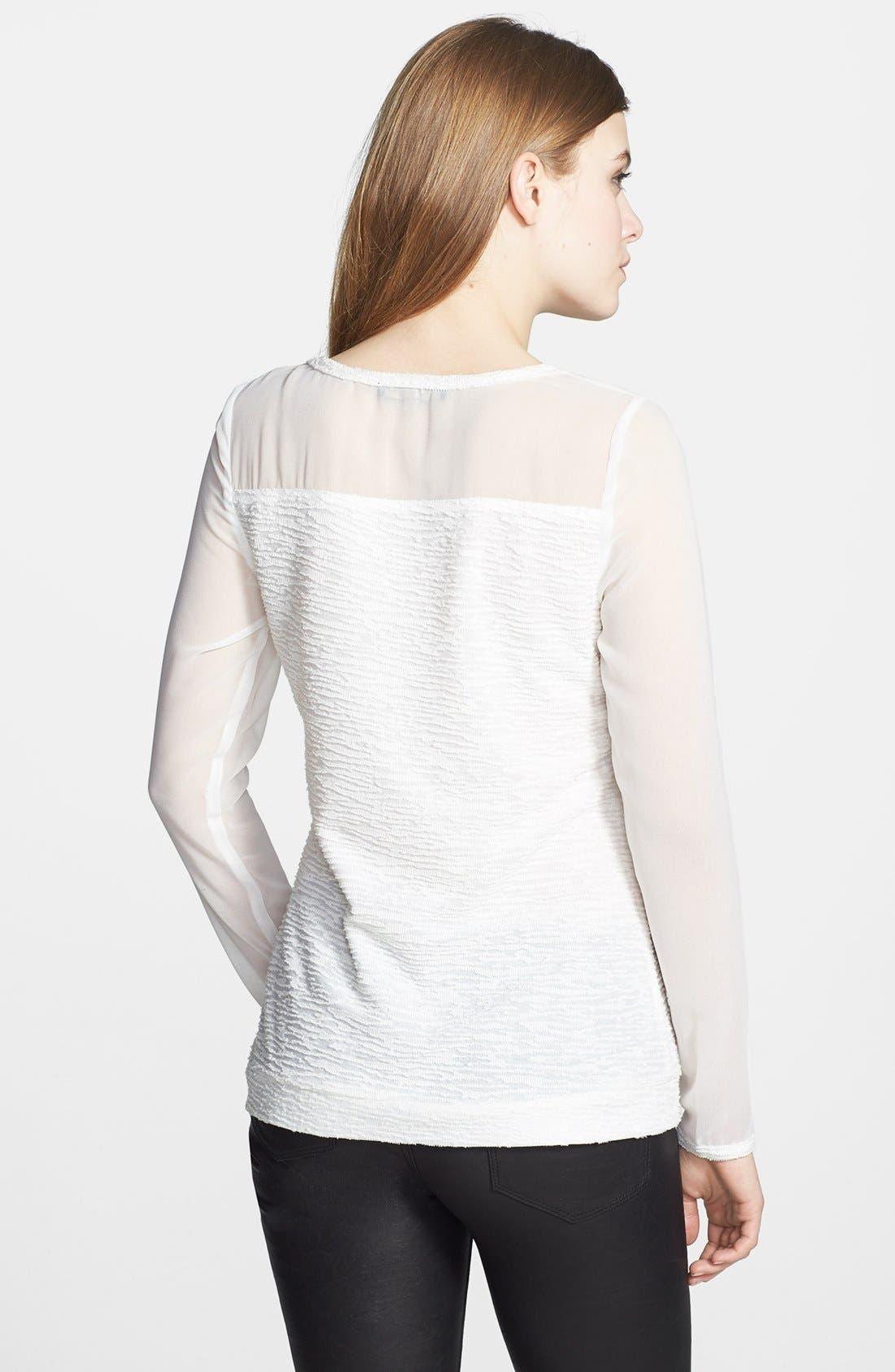 Alternate Image 2  - Pure Sugar Illusion Sleeve Textured Top