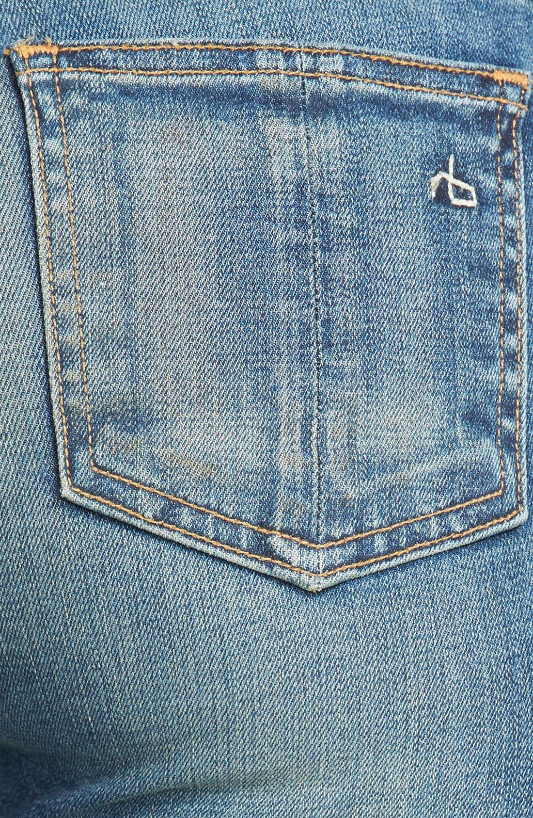 Alternate Image 3  - rag & bone/JEAN Skinny Stretch Jeans (Brimfield)