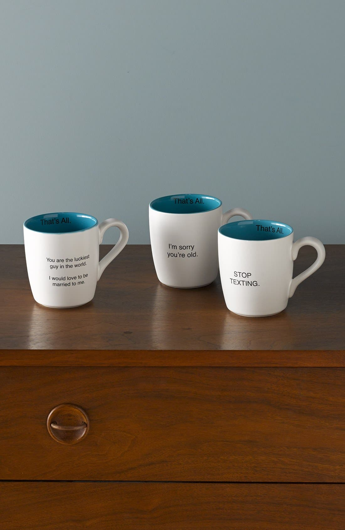 Alternate Image 3  - 'That's All - You Are the Luckiest Guy in the World. I Would Love to Be Married to Me' Mug