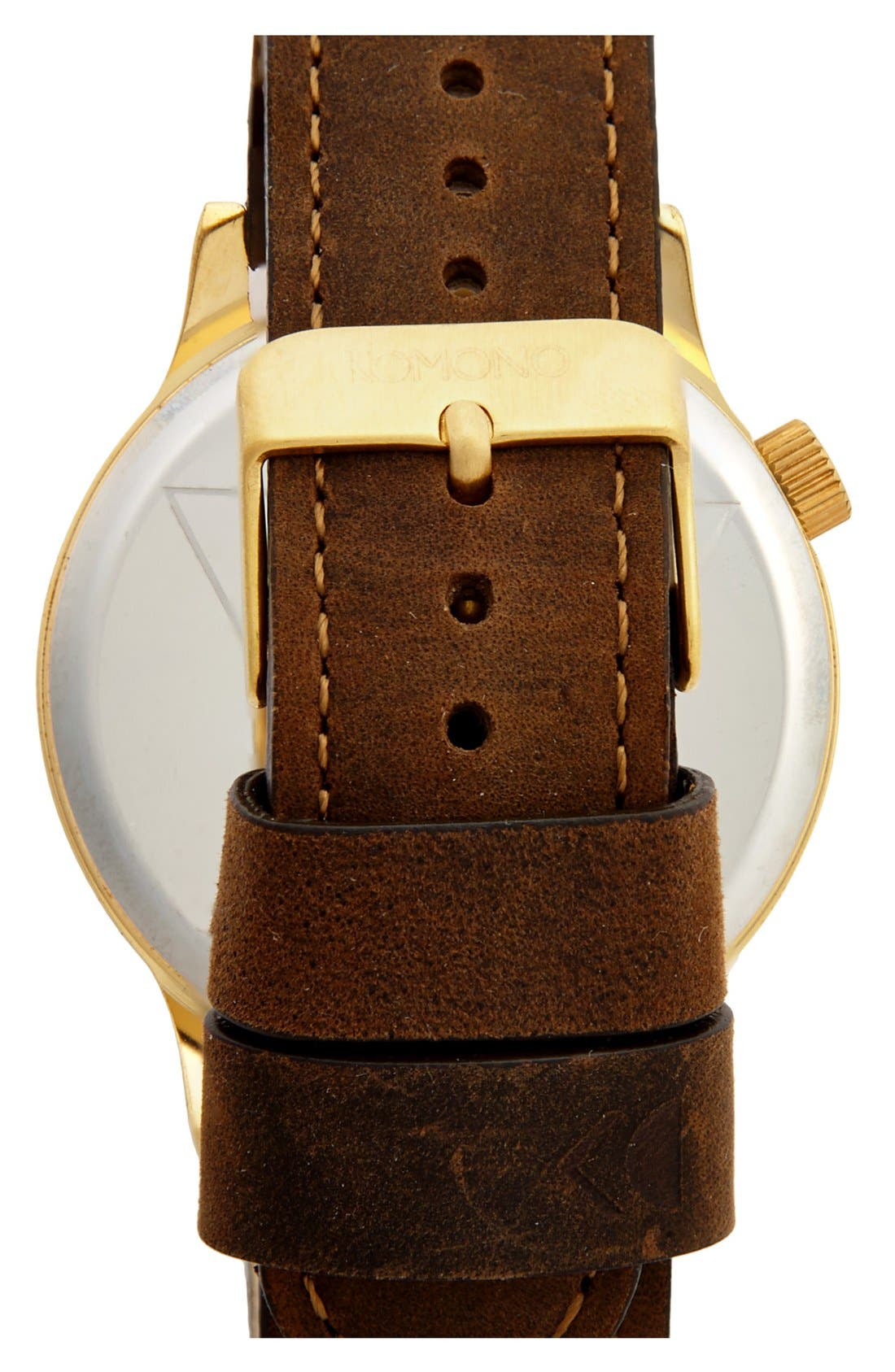 Alternate Image 2  - Komono 'Winston' Round Leather Strap Watch, 41mm