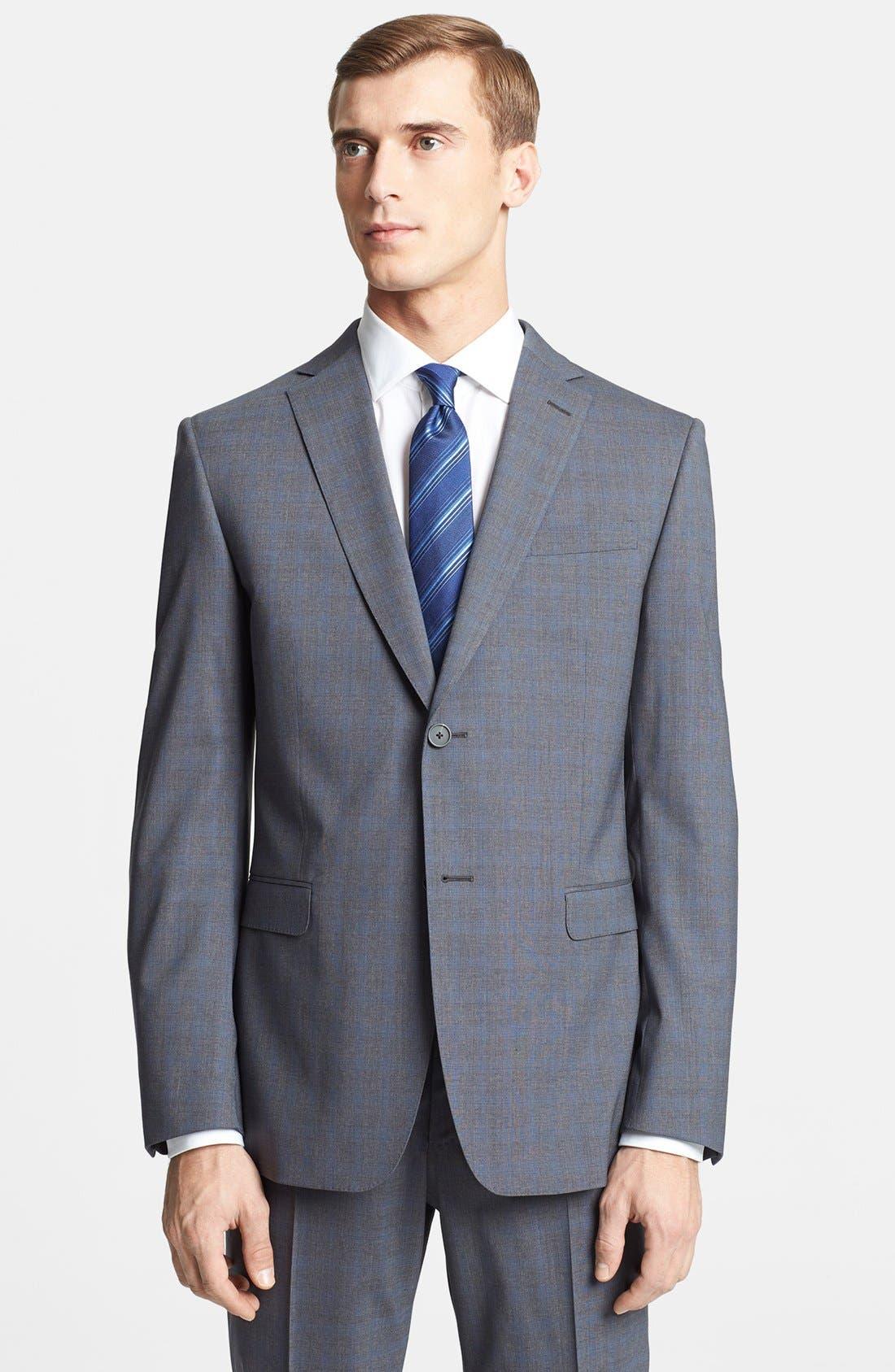 Alternate Image 3  - Z Zegna Trim Fit Grey Wool Suit