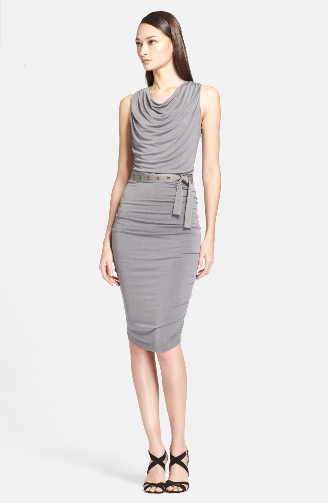 Main Image - Donna Karan Collection 'Body' Belted Jersey Dress