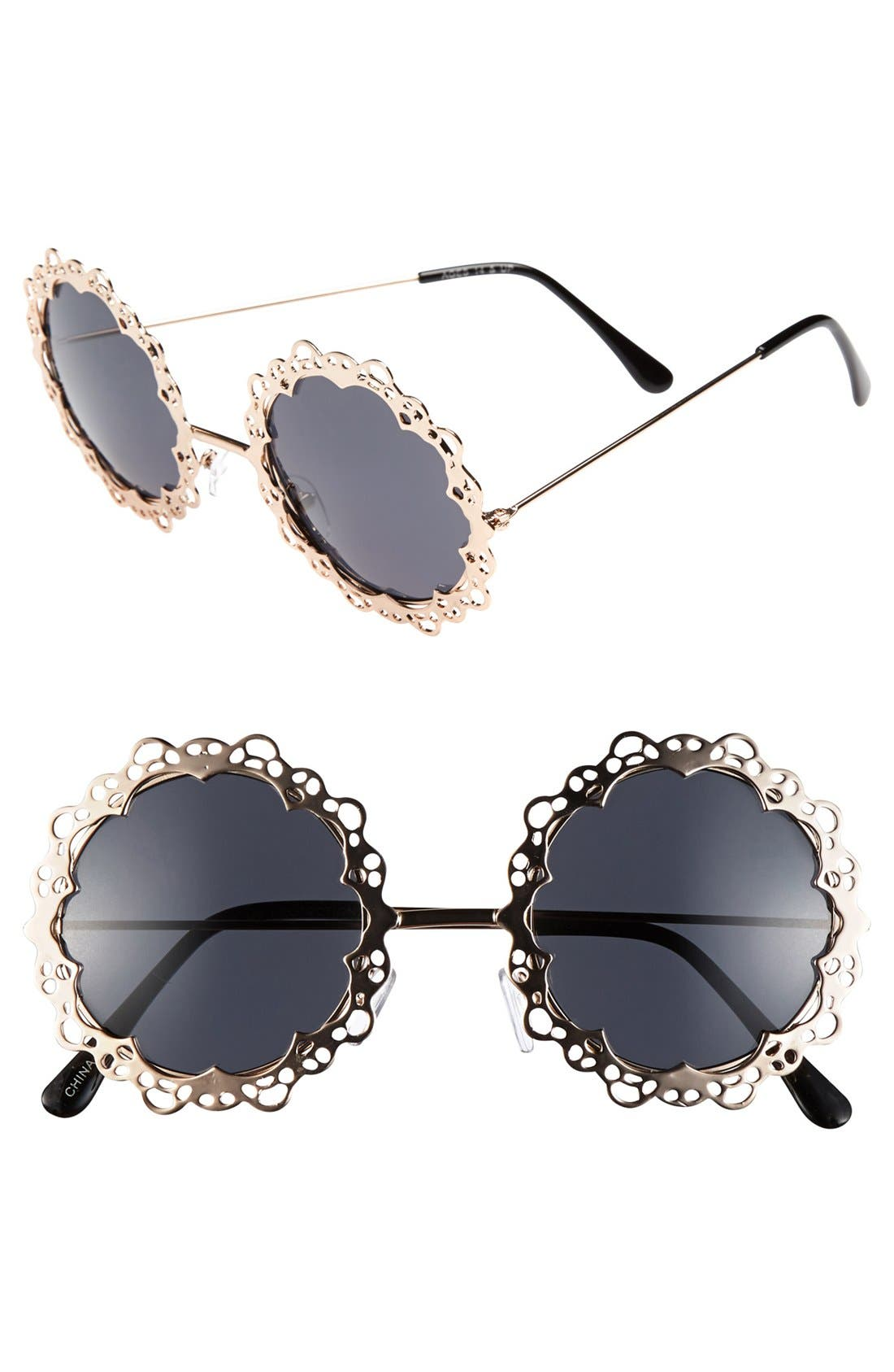 Alternate Image 1 Selected - FE NY Round Sunglasses