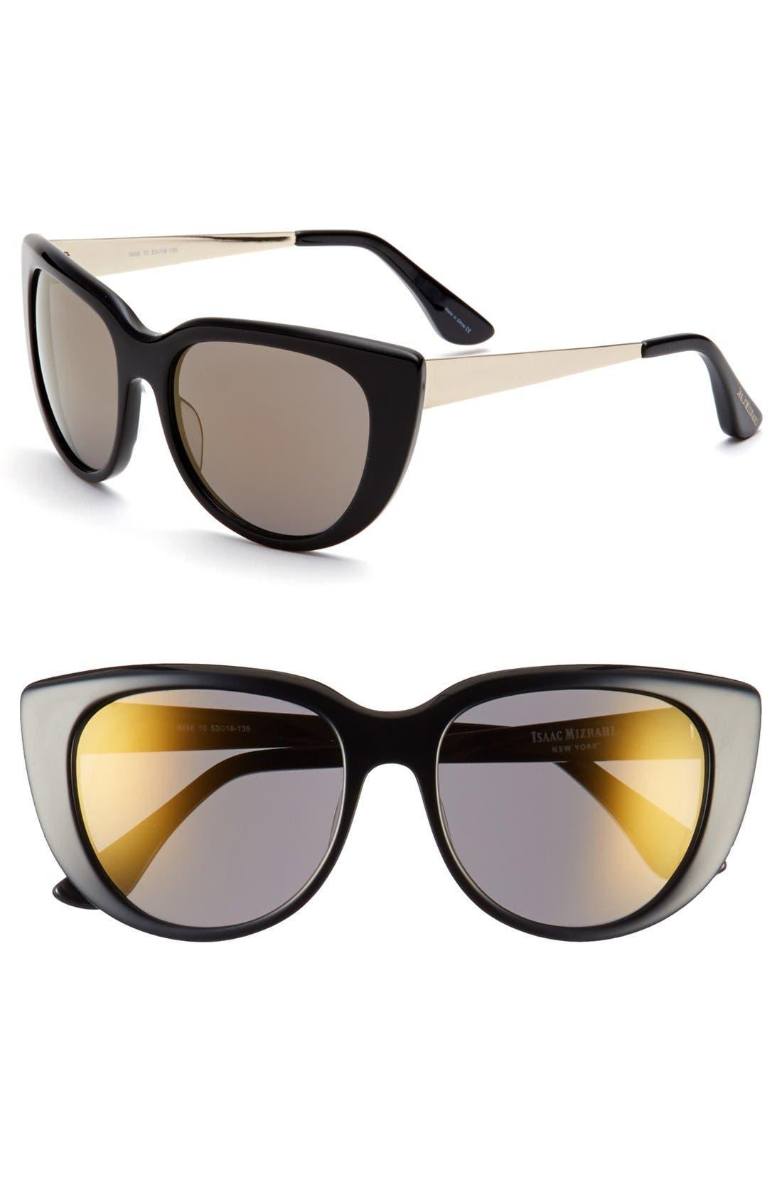 Main Image - Isaac Mizrahi New York 53mm Sunglasses