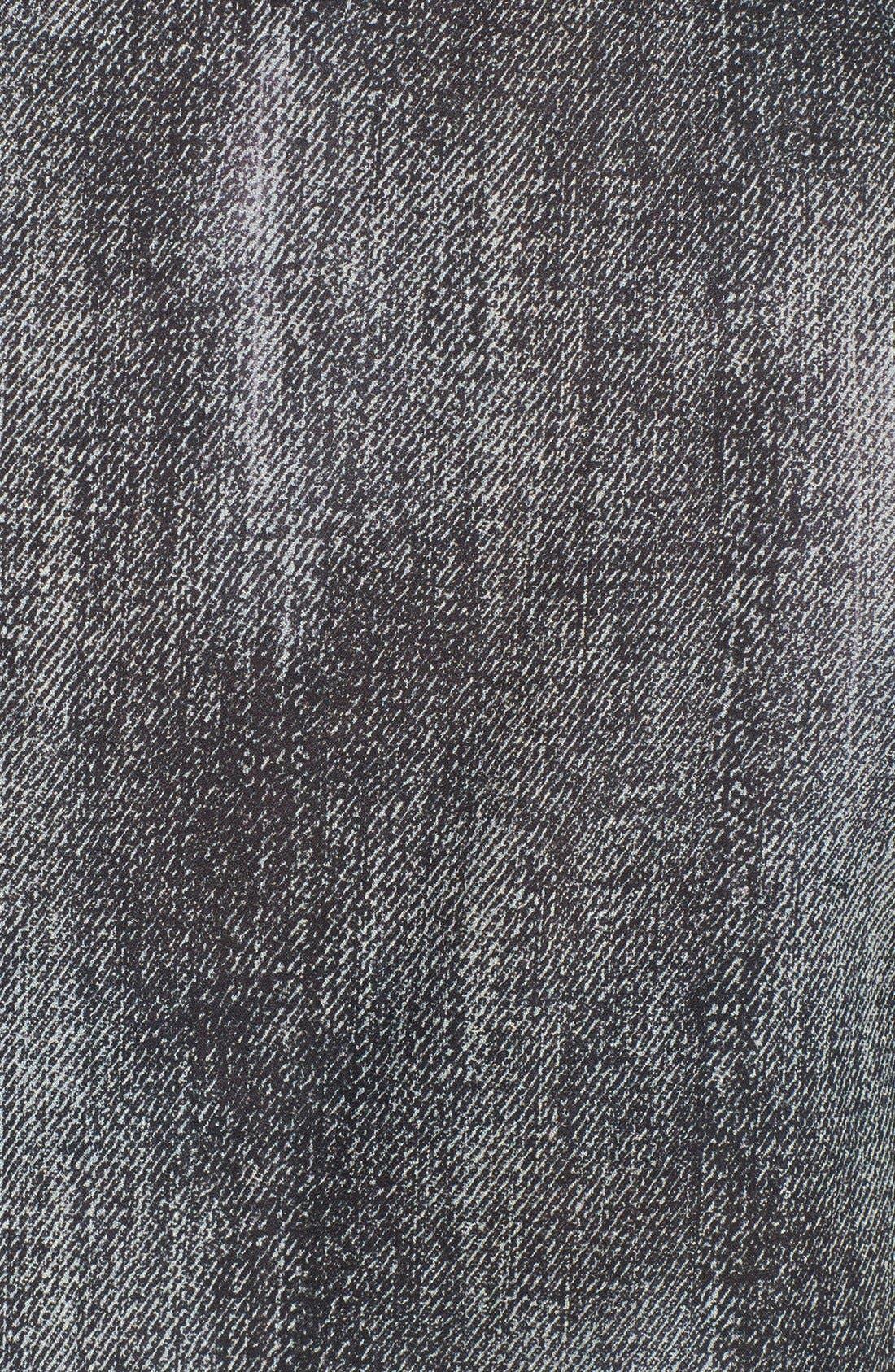 Alternate Image 3  - Eileen Fisher Print Scoop Neck Silk Shell (Regular & Petite)