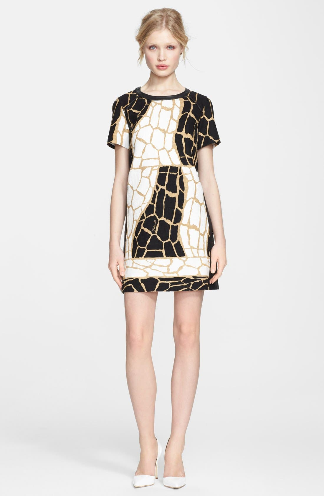 Alternate Image 1 Selected - Rachel Zoe 'Landon' Giraffe Print Dress