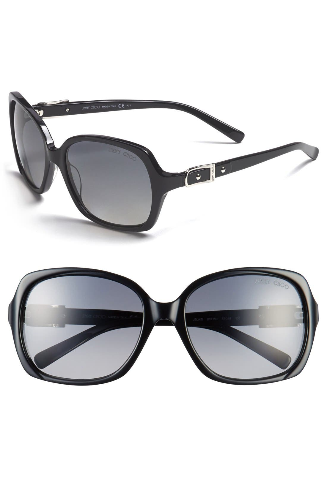 Main Image - Jimmy Choo 'Buckle' 57mm Polarized Sunglasses