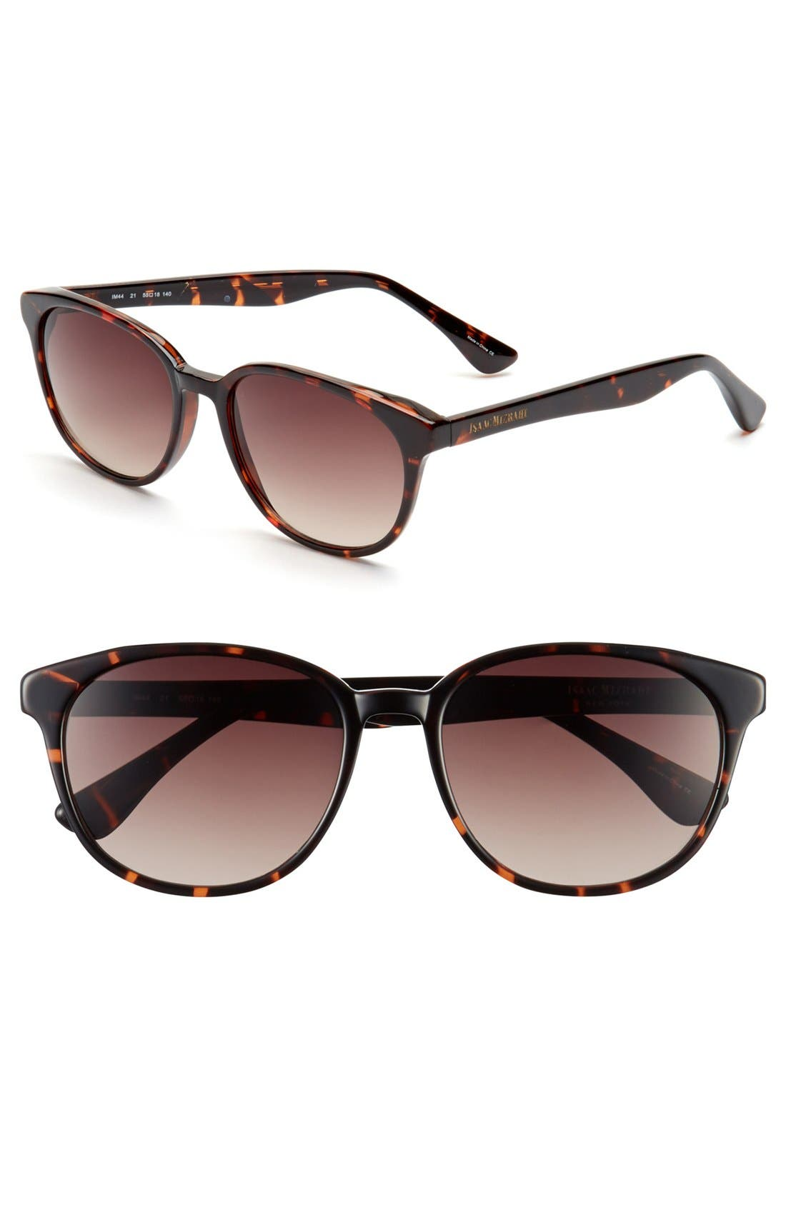 Alternate Image 1 Selected - Isaac Mizrahi New York 55mm Retro Sunglasses