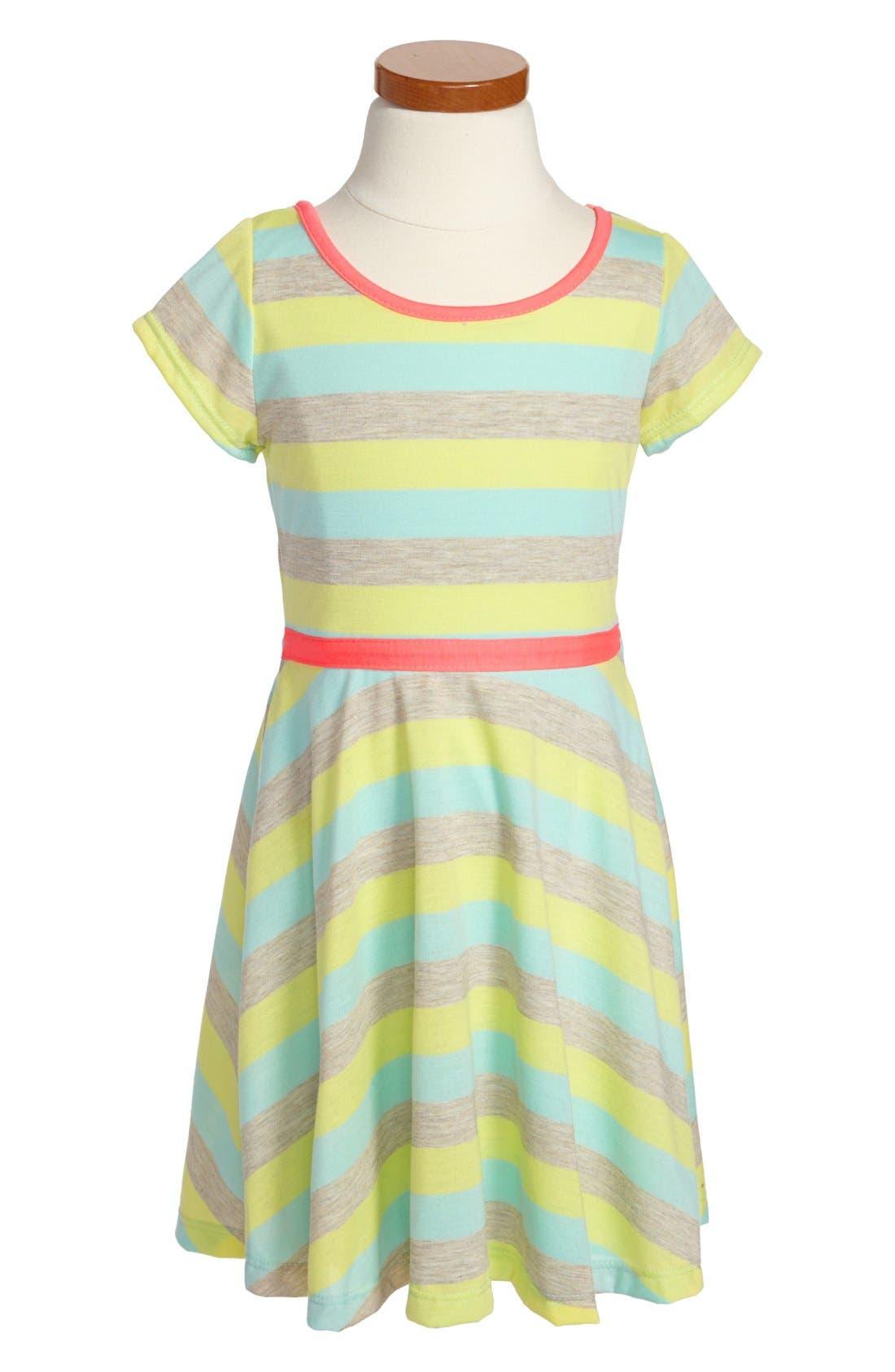 Alternate Image 1 Selected - Zunie Stripe Skater Dress (Little Girls & Big Girls)