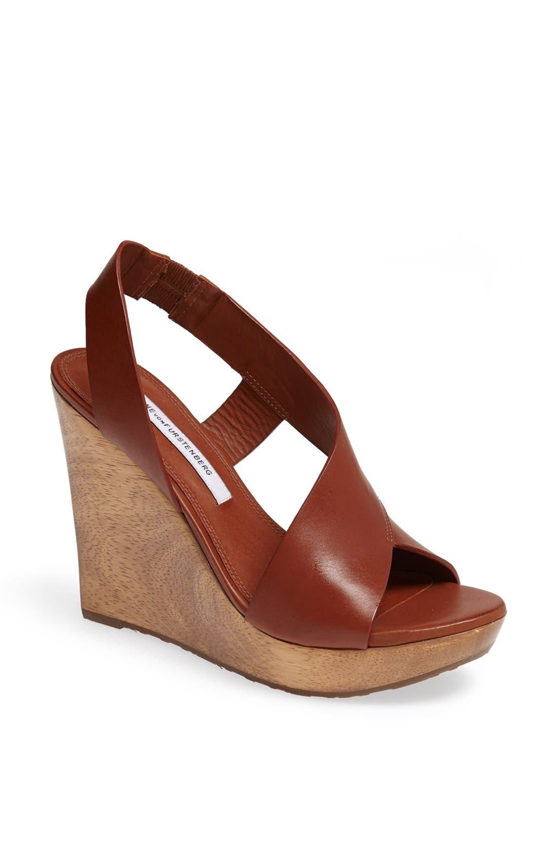Alternate Image 1 Selected - Diane von Furstenberg 'Sunny' Wedge Sandal
