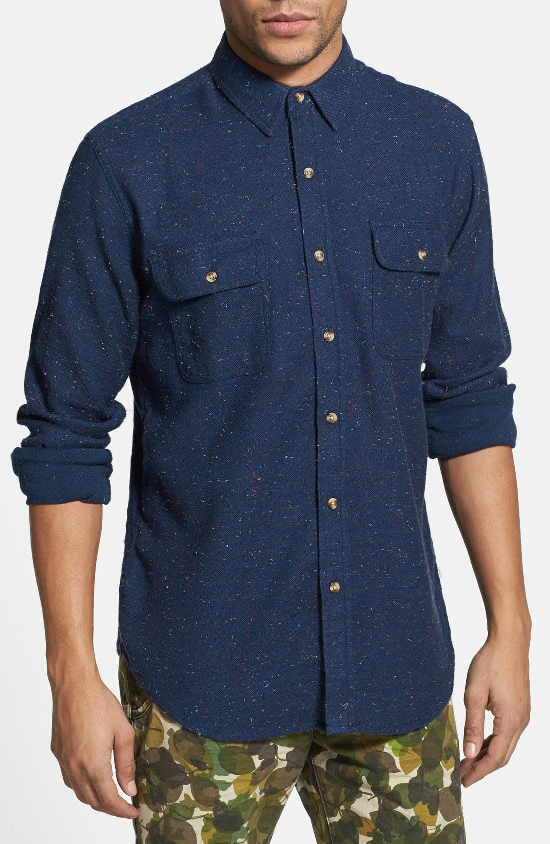 Main Image - Obey 'Heritage' Flecked Cotton Shirt