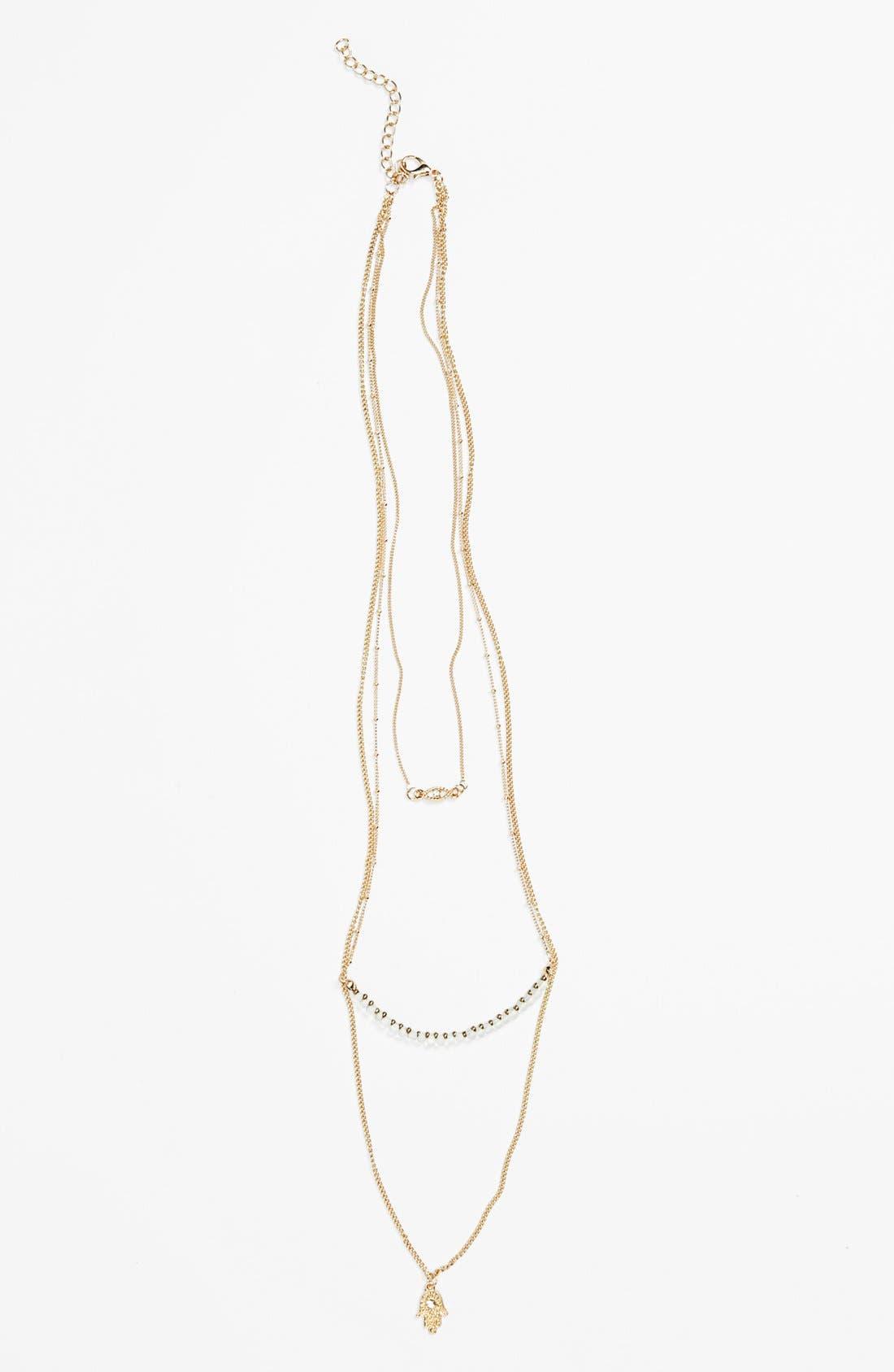 Main Image - Stephan & Co. Triple Strand Necklace (Juniors)