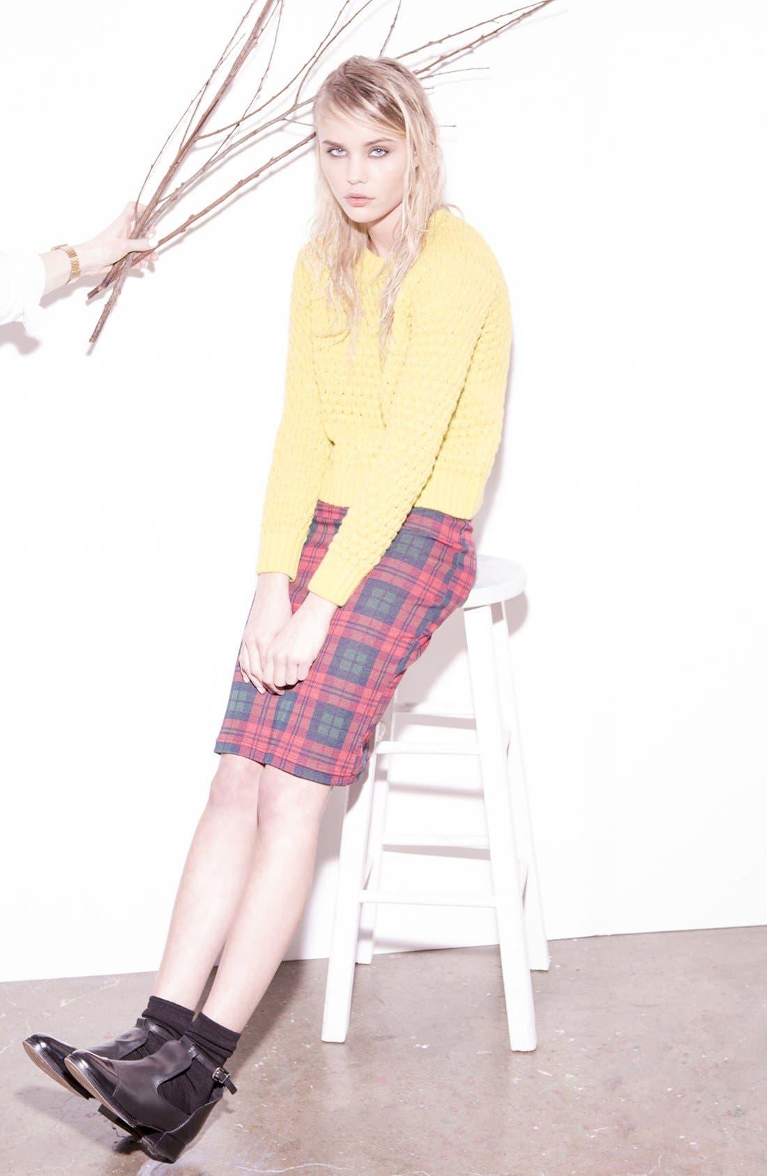 Alternate Image 7  - Topshop Check Print Tube Skirt