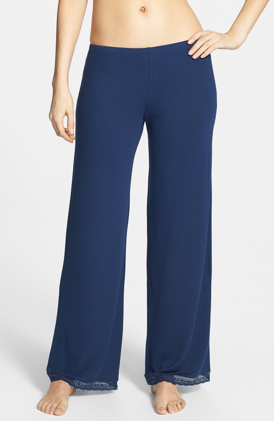 Main Image - Eberjey 'Gisele' Lace Jersey Pajama Pants