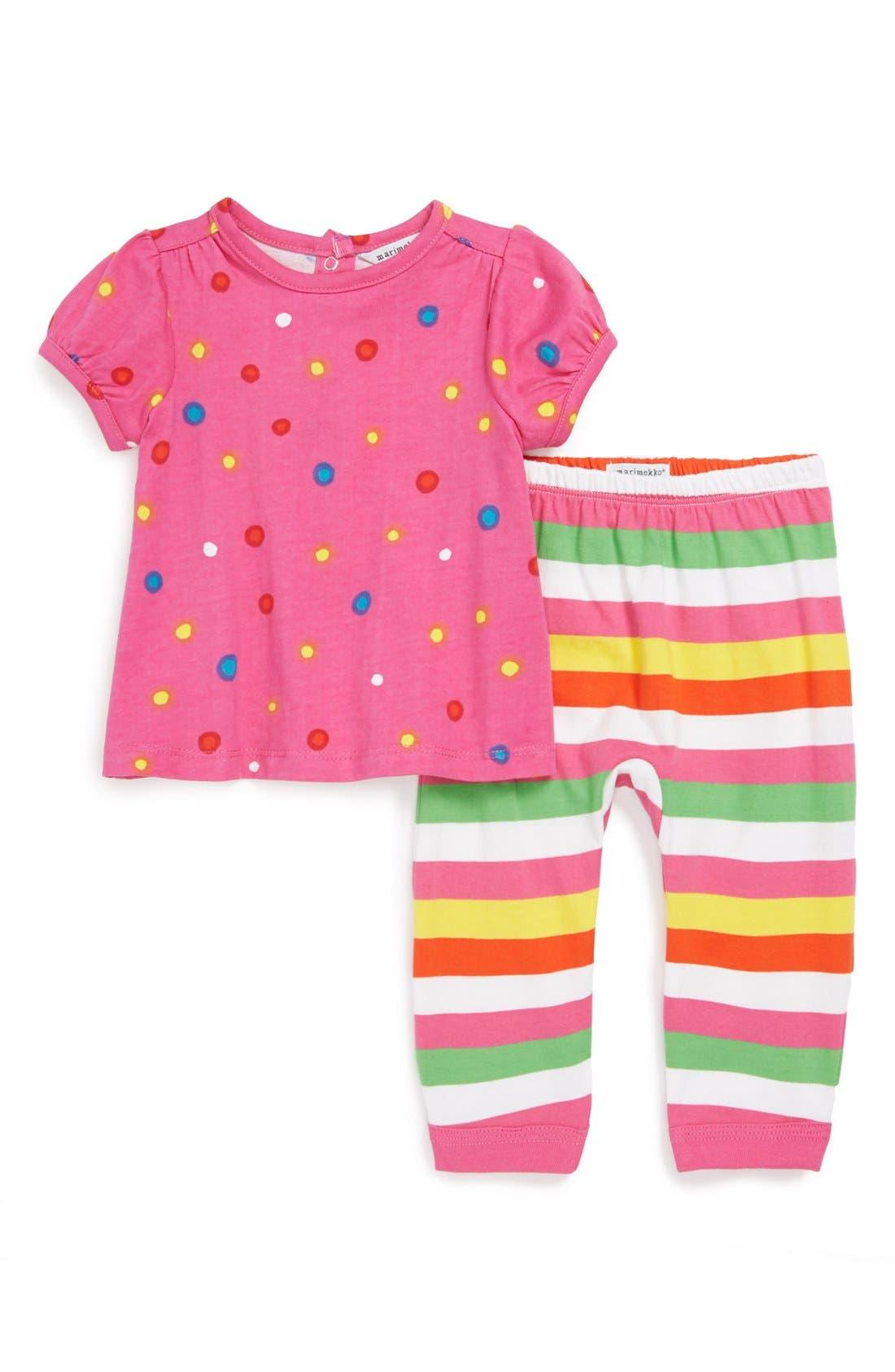 Alternate Image 1 Selected - Marimekko Tee & Leggings (Baby Girls)
