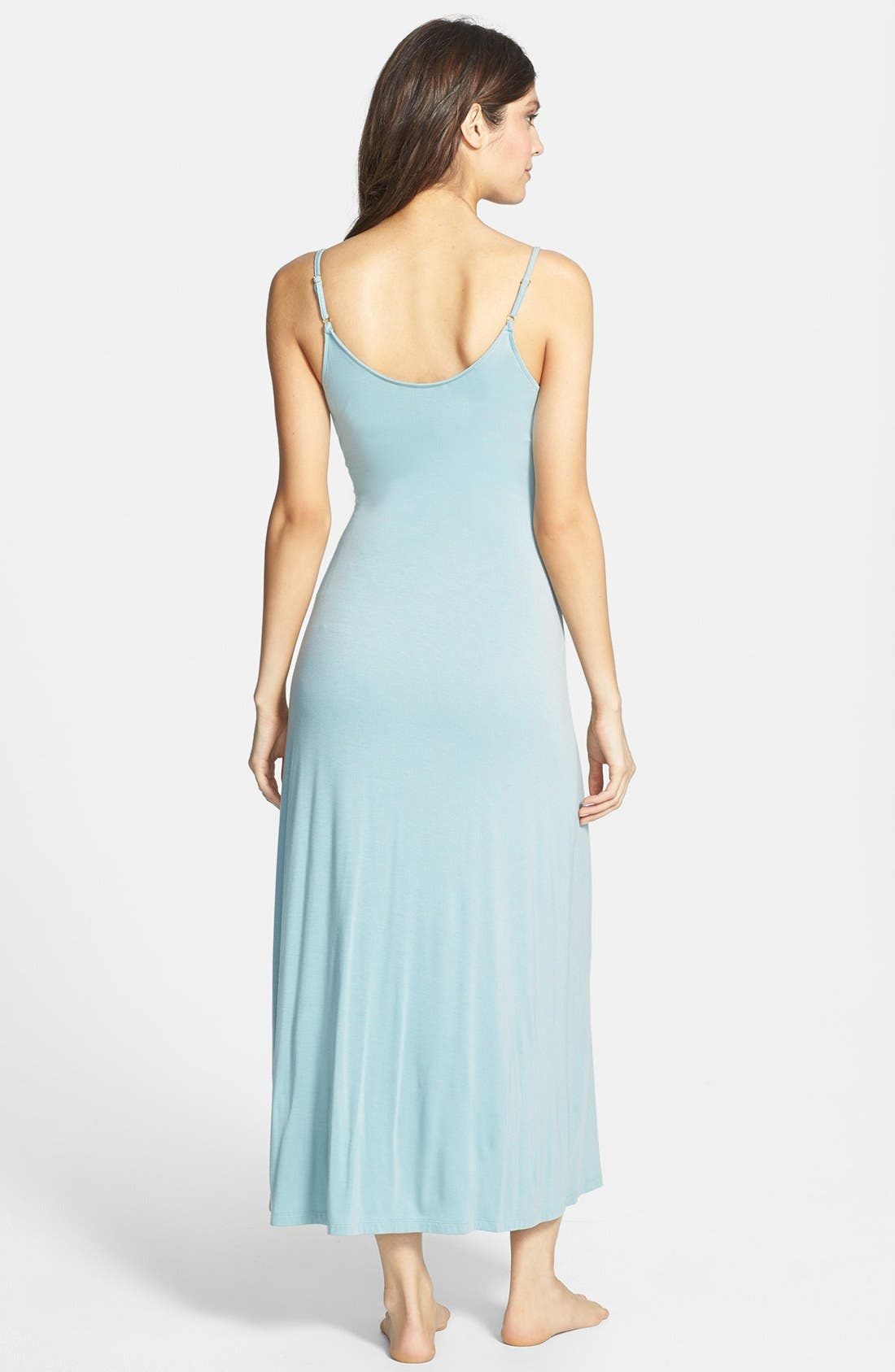 Alternate Image 2  - Donna Karan Liquid Jersey Long Nightgown