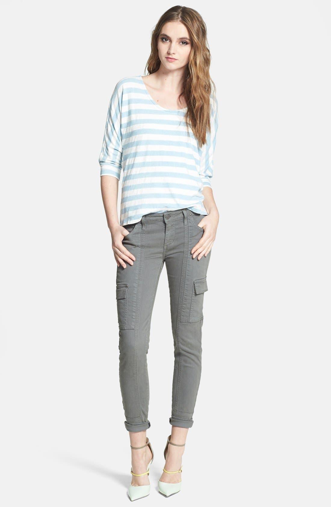 Alternate Image 4  - Splendid Stripe Dolman Sleeve Cotton Top