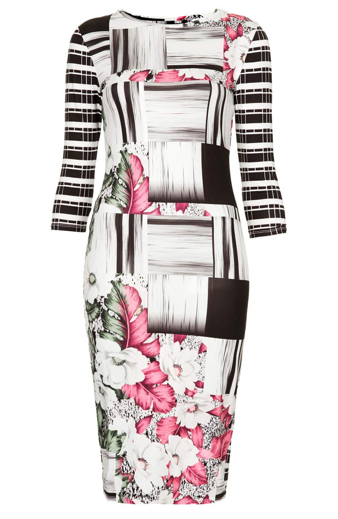 Alternate Image 3  - Topshop 'Ahola Check' Print Jersey Body-Con Dress