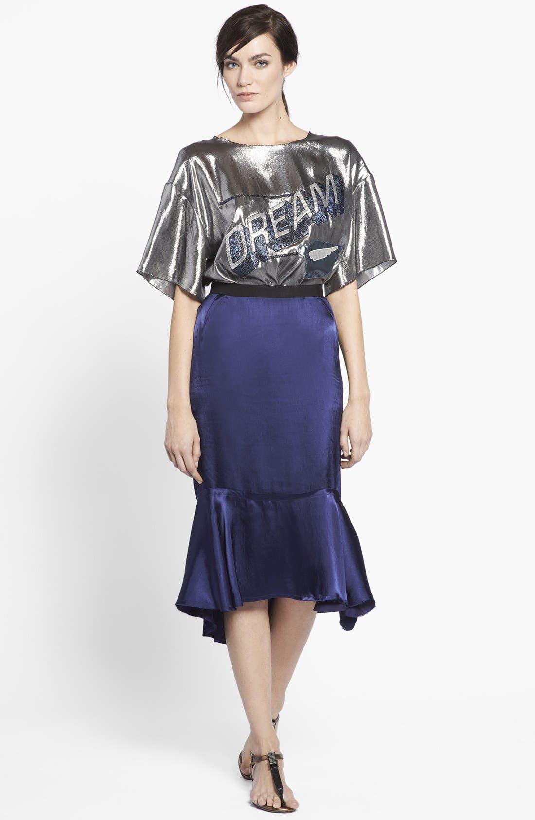 Alternate Image 3  - Lanvin Ruffled Hem Midi Skirt